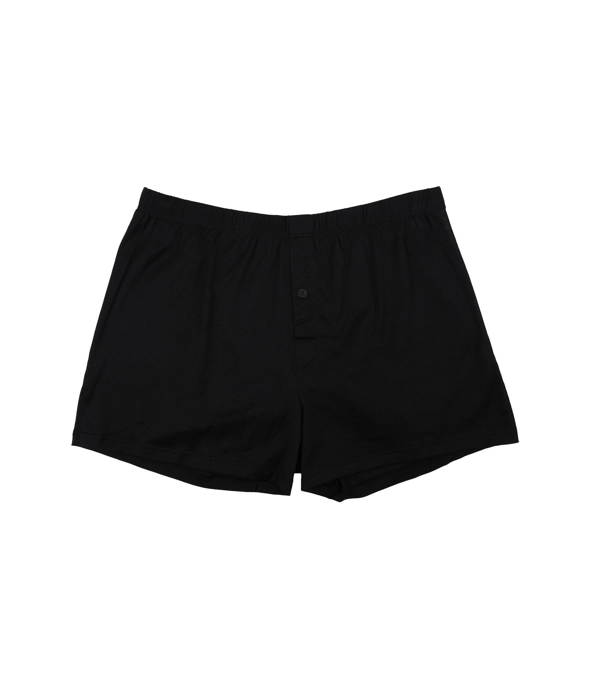 f1aa3c7ea92aa Hanro. Black Cotton Sporty Knit Boxer (midnight Navy) Men s Underwear