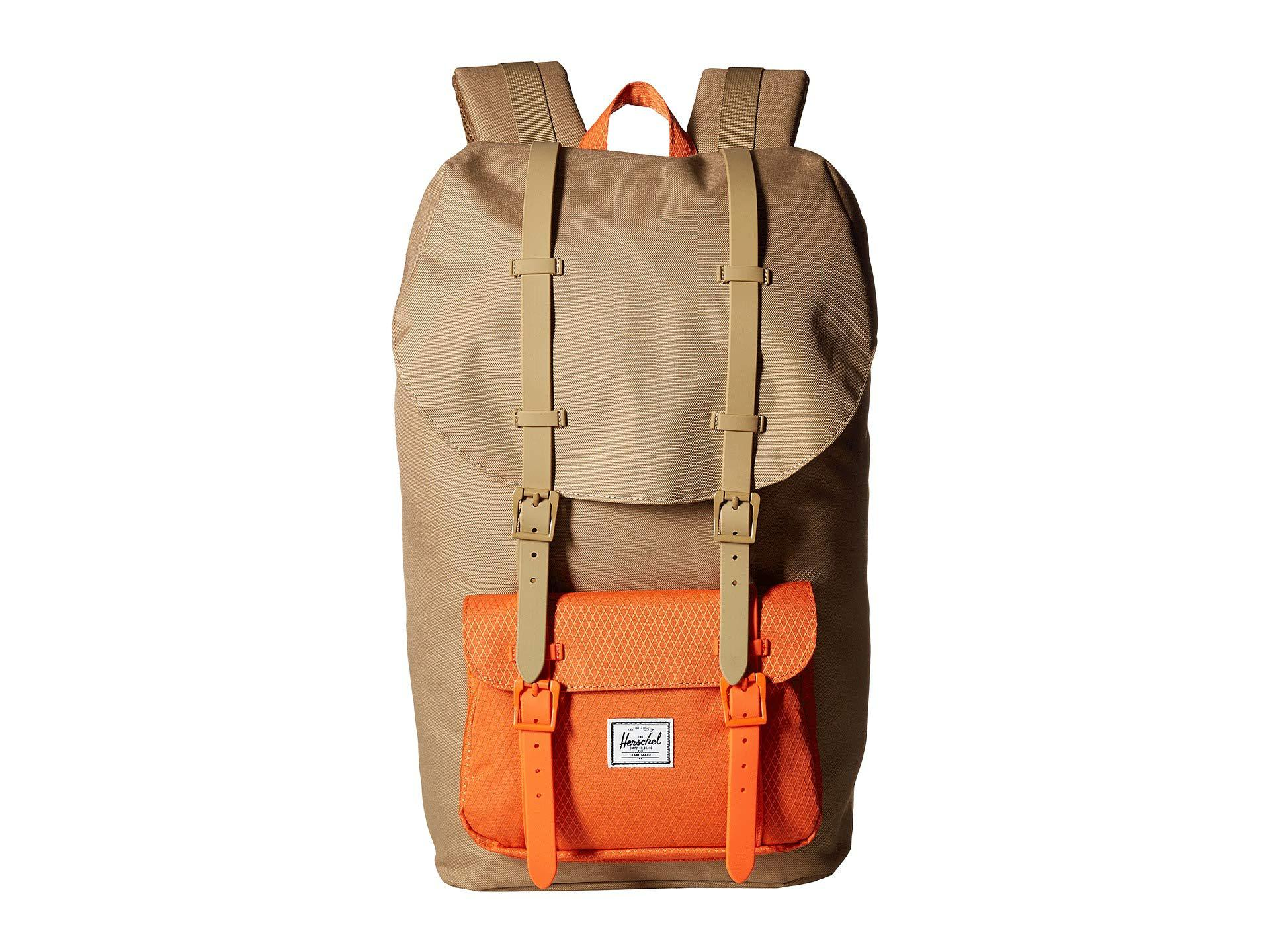 28b652eef60c Herschel Supply Co. Men s Little America (canteen Crosshatch tan Synthetic  Leather) Backpack Bags