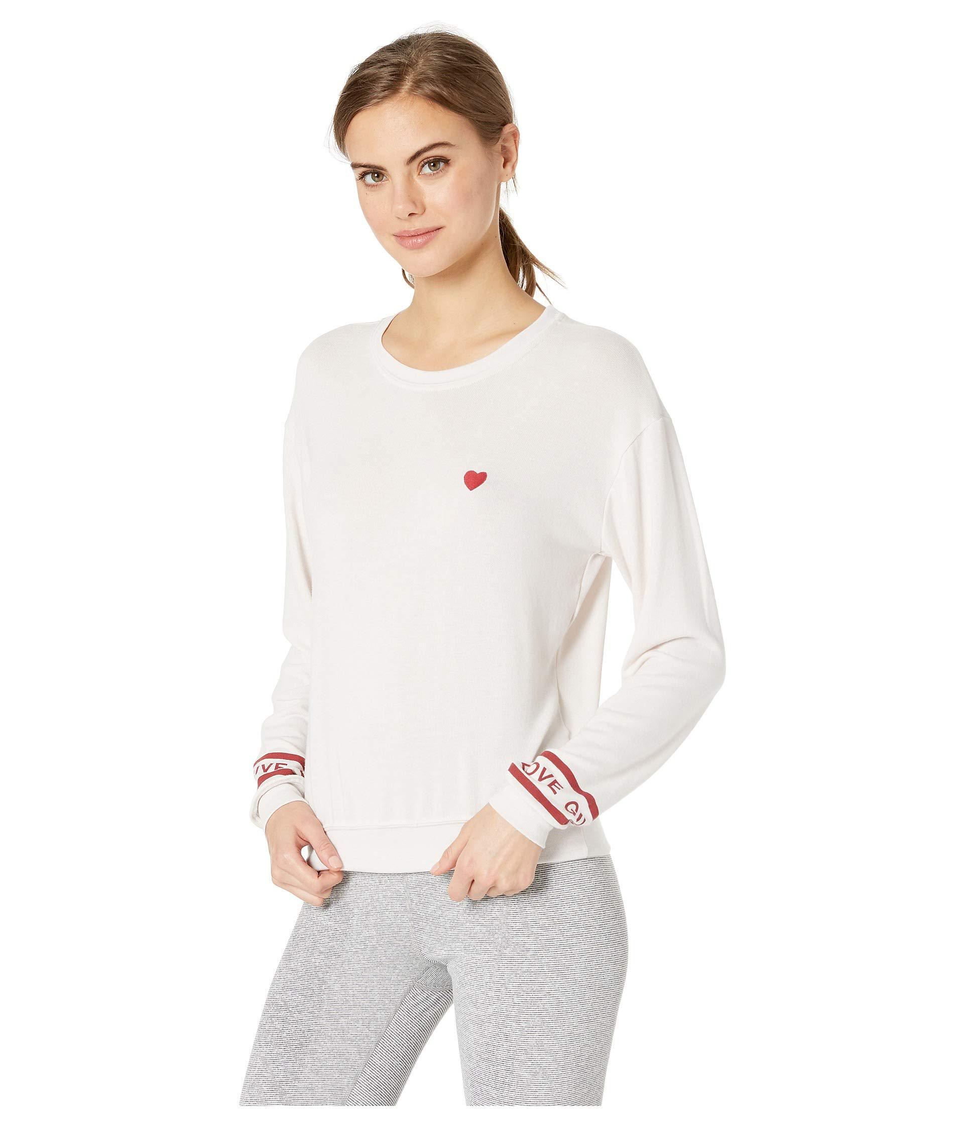 Lyst - Spiritual Gangster Give Crew Neck Savasana (white Aura) Women s Long  Sleeve Pullover in White 26d4a6fe8