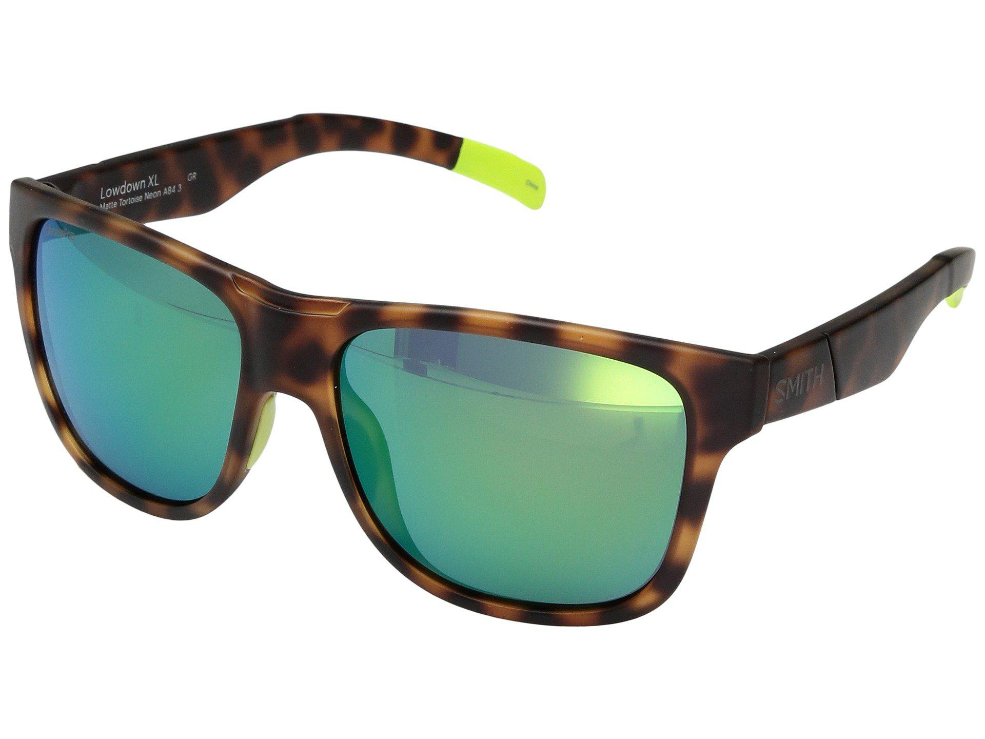 41af957dcd7 Smith Optics. Men s Lowdown Xl (matte Tortoise Neon chromapop Sun Green  Mirror Lens) Fashion Sunglasses