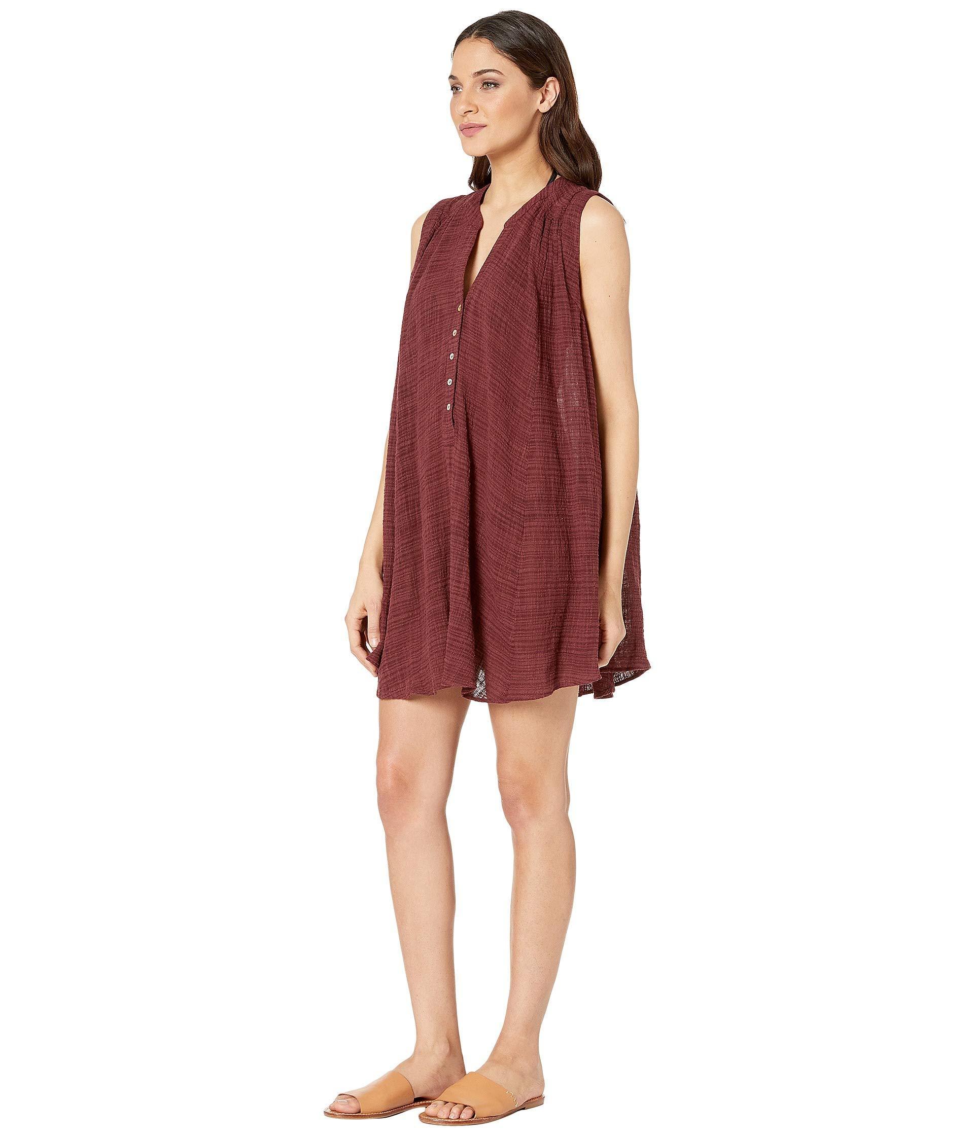b29501e1ef Lyst - Seafolly Swing Beach Shirt Cover-up (plum) Women's Swimwear in Red