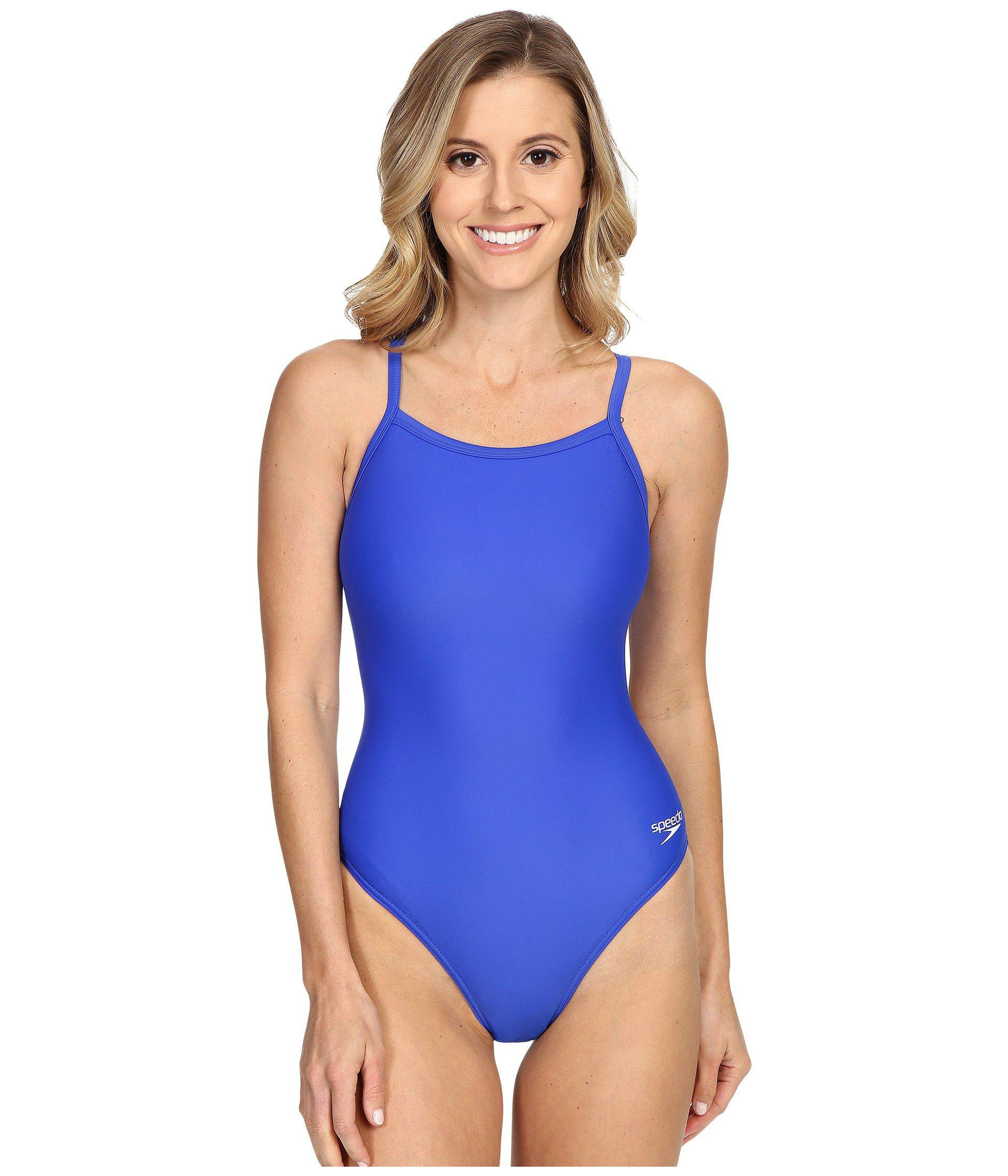 6457ea9472 Speedo - Blue Powerflex Eco Solid Flyback One-piece (new Black) Women s  Swimsuits. View fullscreen