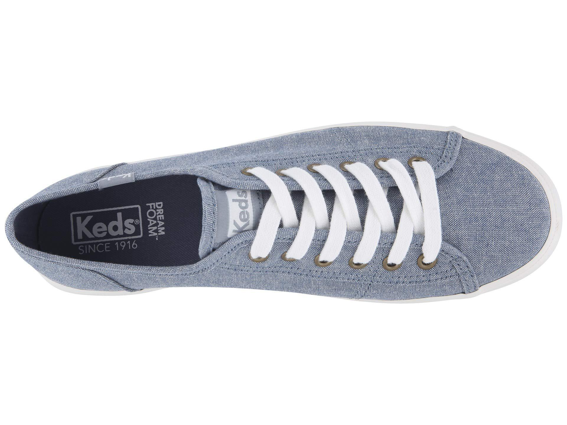 Keds - Kickstart Chambray (blue) Women s Lace Up Casual Shoes - Lyst. View  fullscreen 09fd974e8