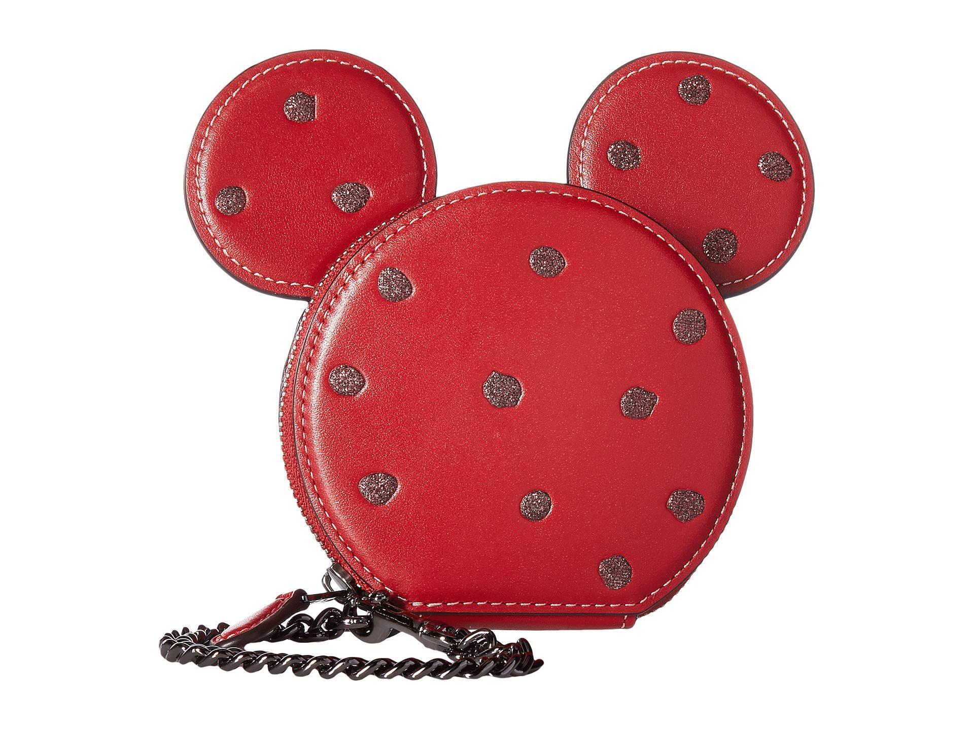9f2aa8731532 Lyst Coach Boxed Minnie Mouse Coin Case Li Black Wallet Handbags