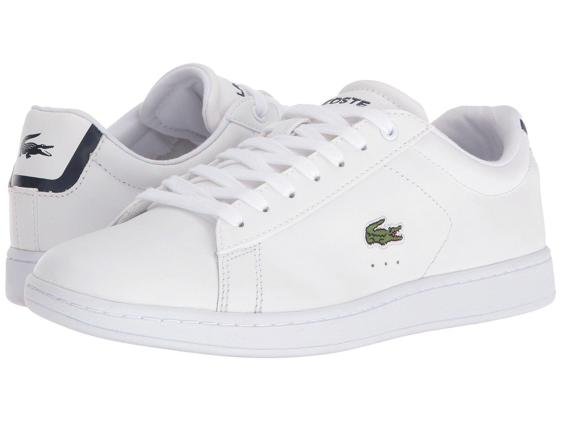 02fdf186eca607 Lyst - Lacoste Carnaby Evo Bl 1 (navy) Women s Shoes in White