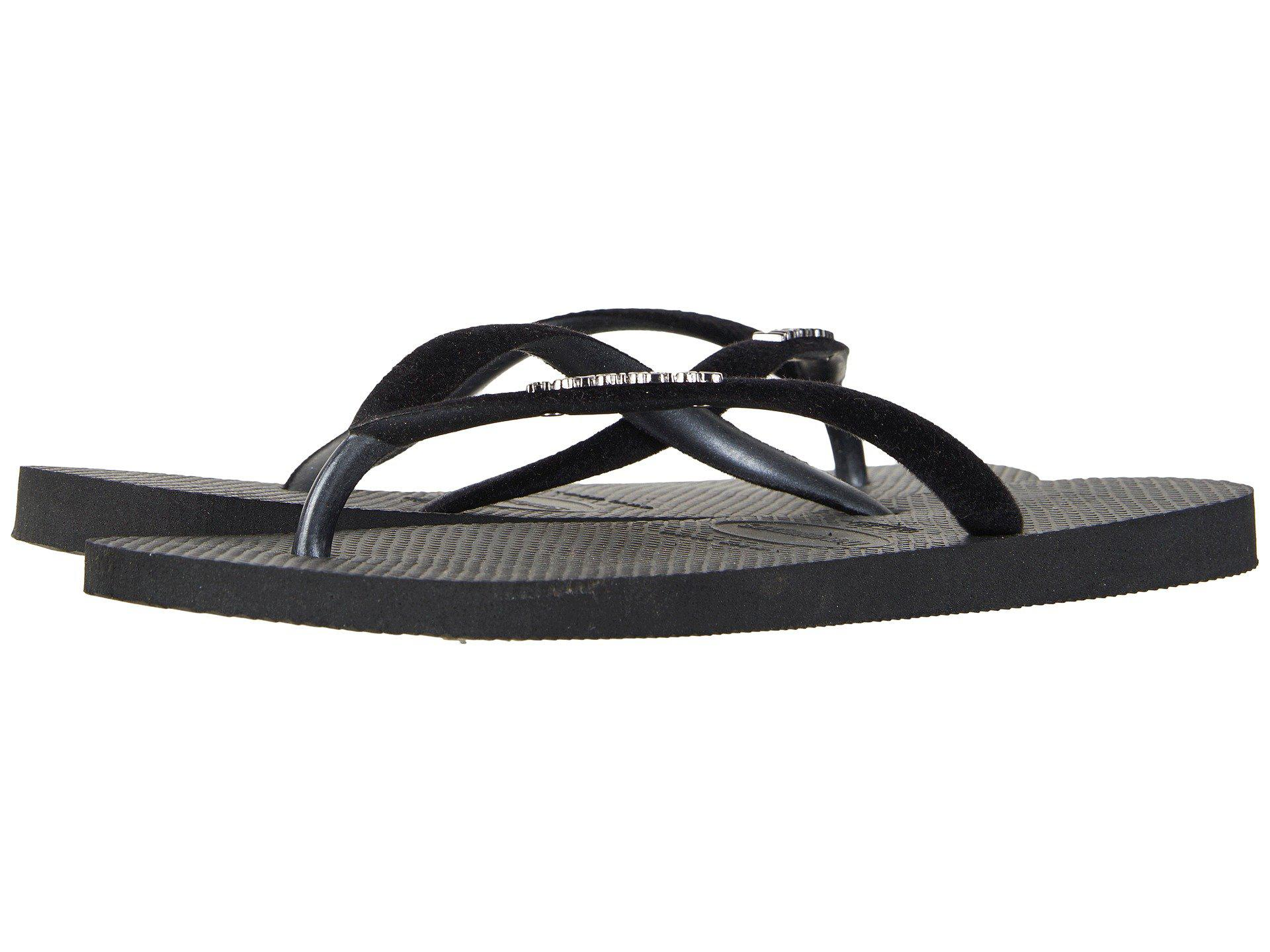 Lyst - Havaianas Slim Velvet Flip-Flops In Black-2359