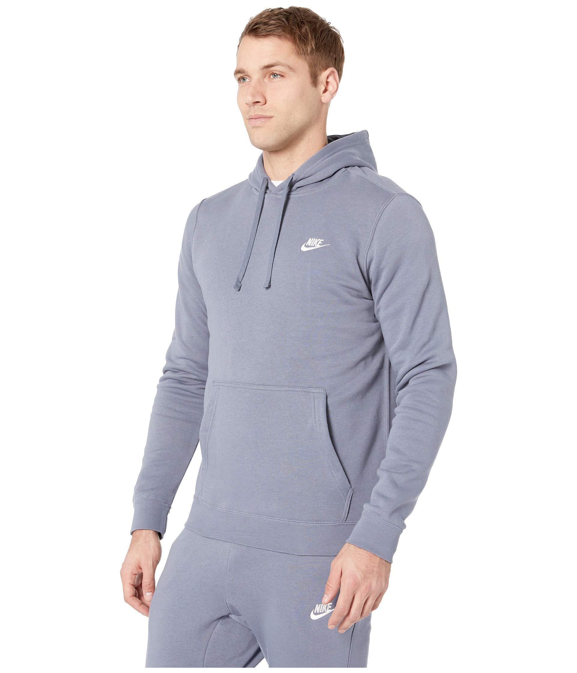acb5b089919 Lyst - Nike Club Fleece Pullover Hoodie in Blue for Men