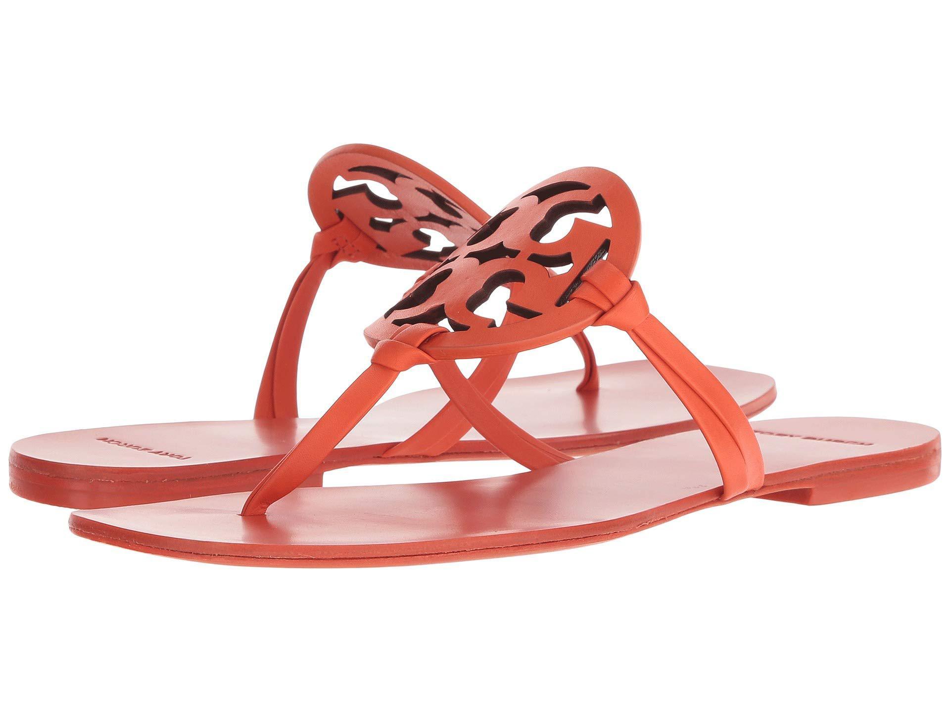 ee8c2ac90f04 Lyst - Tory Burch Miller Square Toe (sweet Tangerine) Women s Shoes