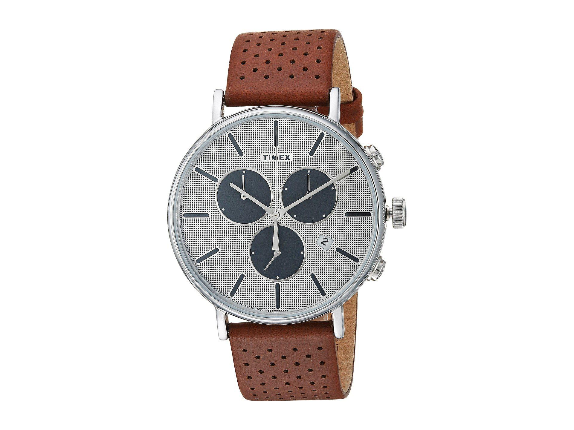 1fe686553 Timex Fairfield Supernova Chrono (brown/silver) Watches for Men - Lyst