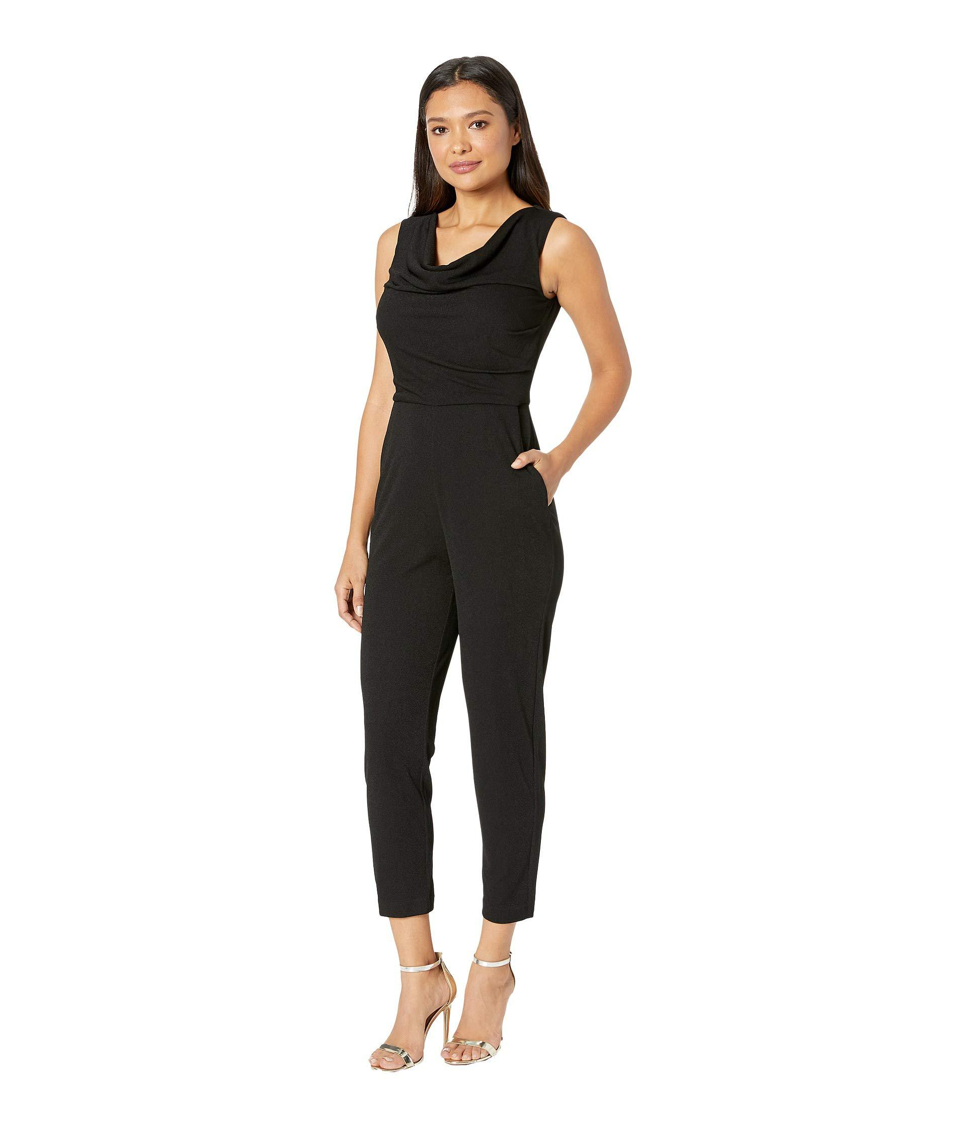 bd1f7207f68 Lyst - Maggy London Evening Crepe Cowl Neck Jumpsuit (black) Women s  Jumpsuit   Rompers One Piece in Black