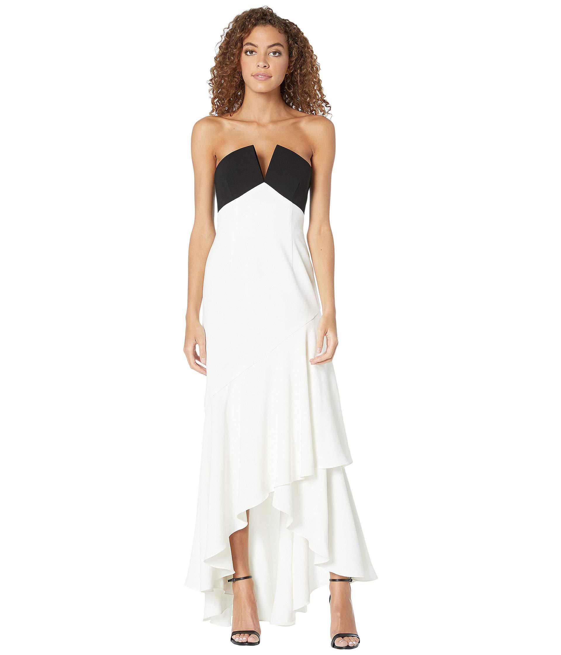 54b8ae25 JILL Jill Stuart Two-tone Gown (black/white) Women's Dress in White ...
