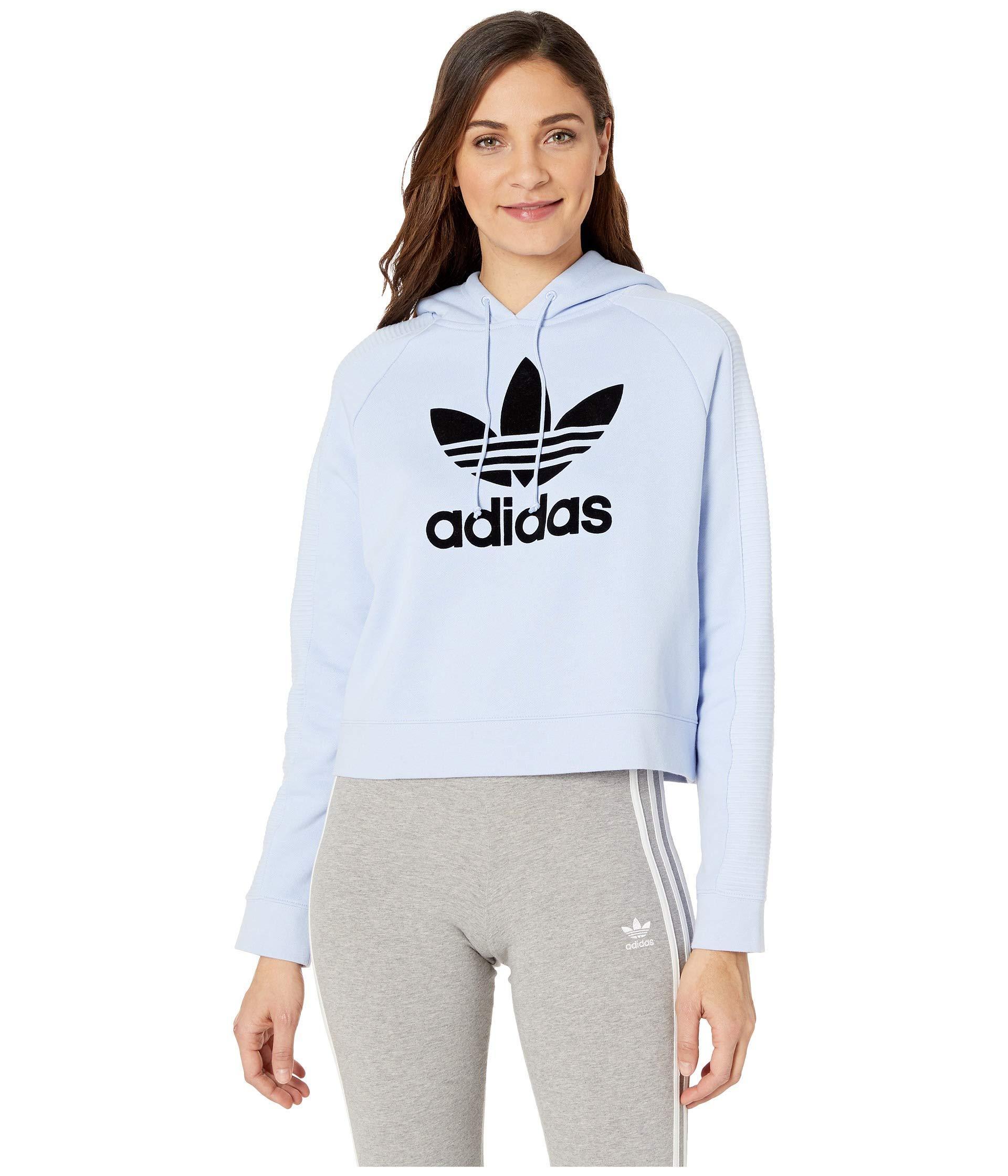2b9d8c18227a adidas Originals. Cropped Hoodie (black white) Women s Sweatshirt