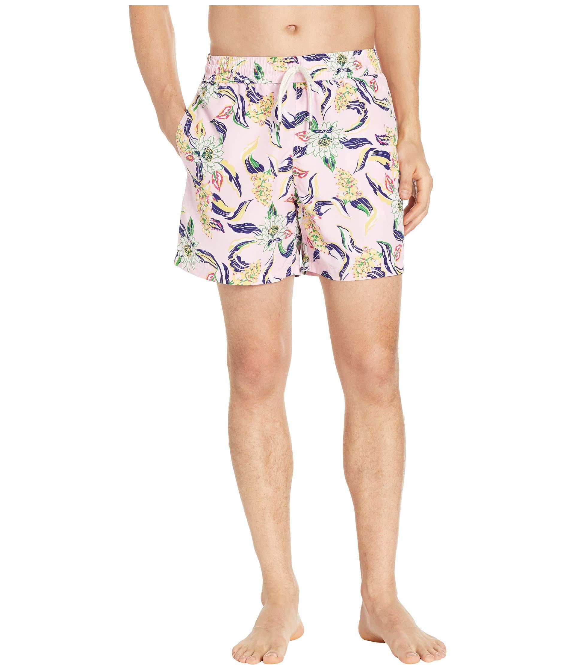 67df40a729 Lyst - Polo Ralph Lauren Traveler Swim Trunks (lotus Paradise) Men's ...