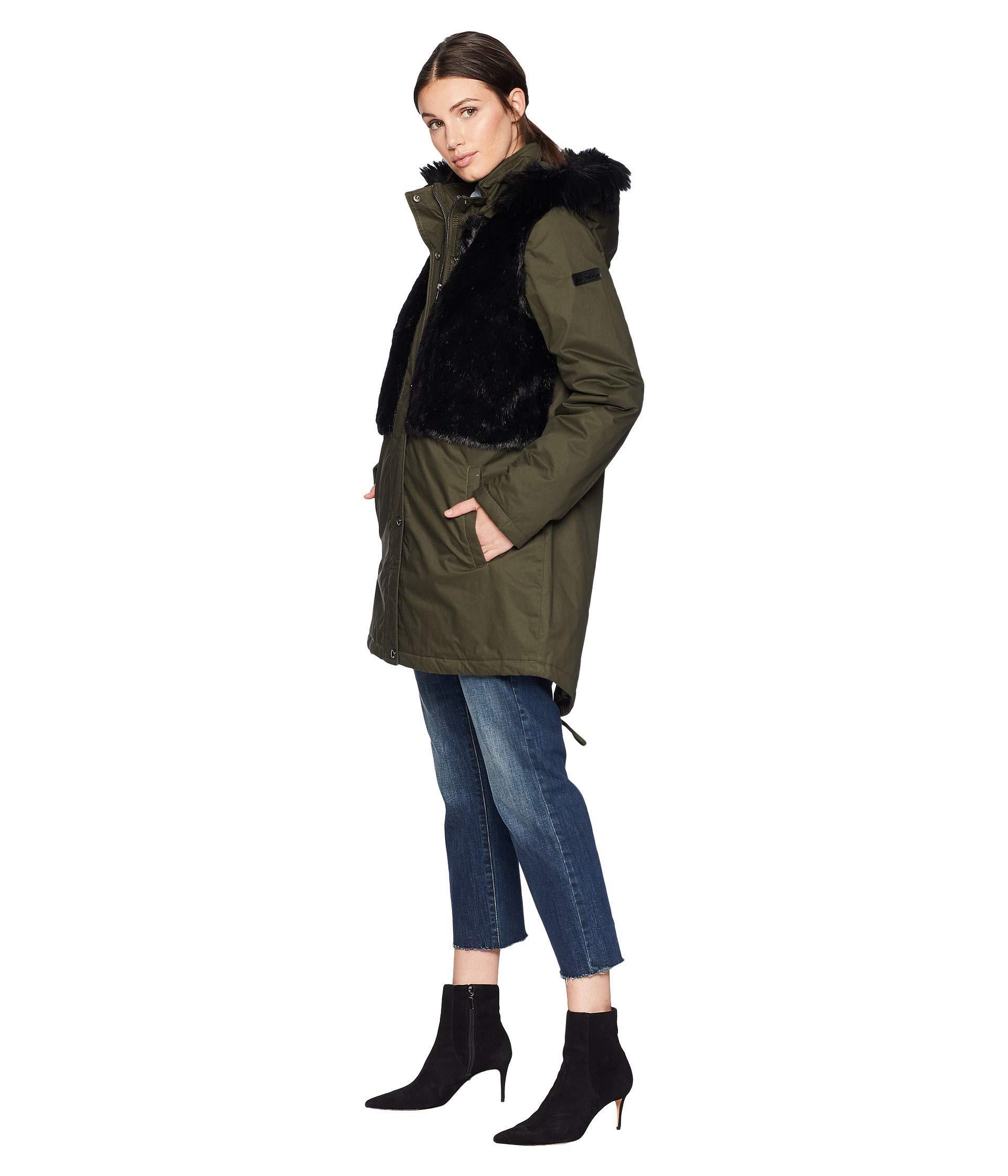 1b16333594c7 Lyst - Sam Edelman Faux Fur Upperbody (loden) Women s Coat
