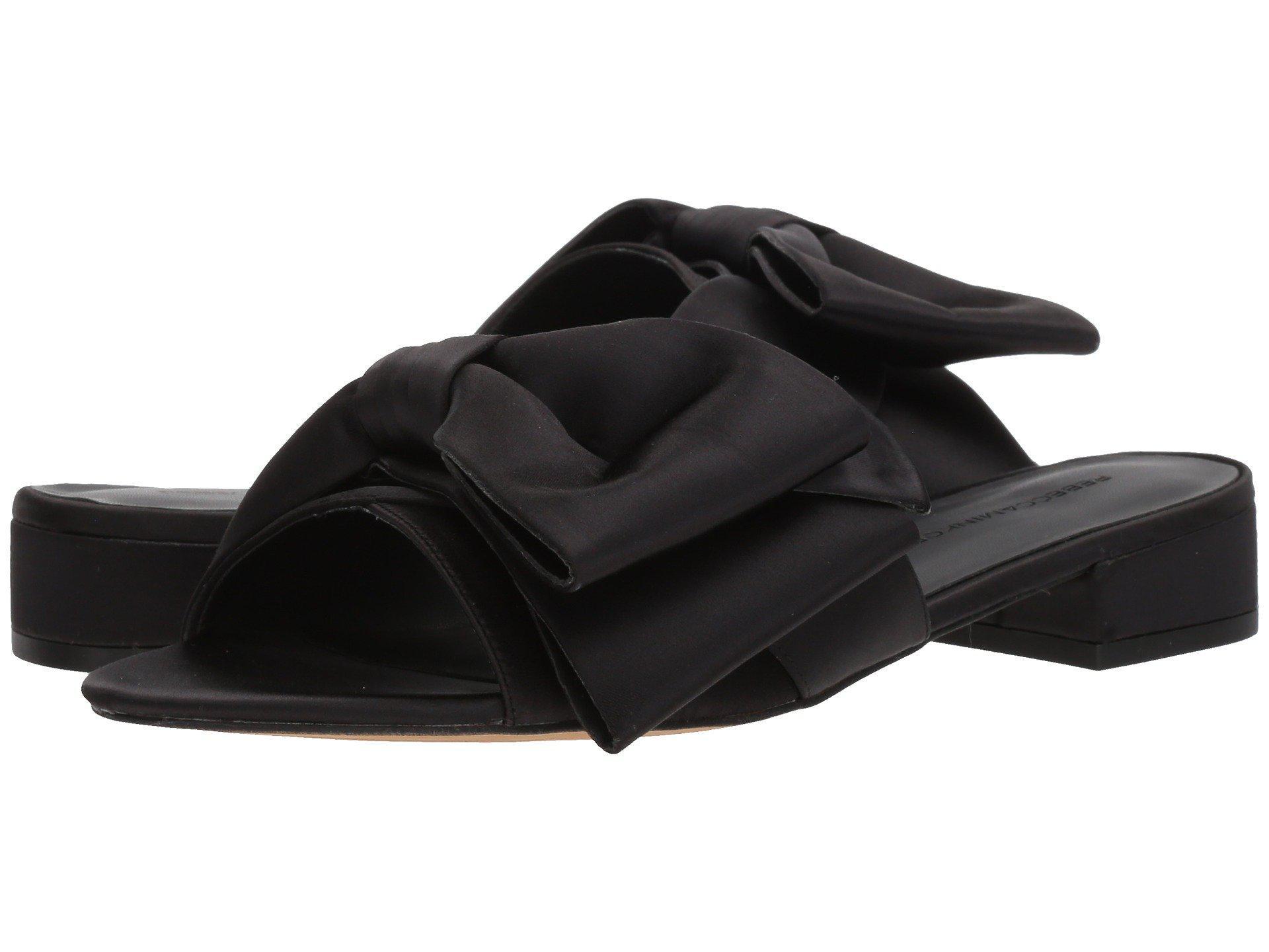 0d8f3c6490cc Lyst - Rebecca Minkoff Calista Slide (black Satin) Women s Slide ...
