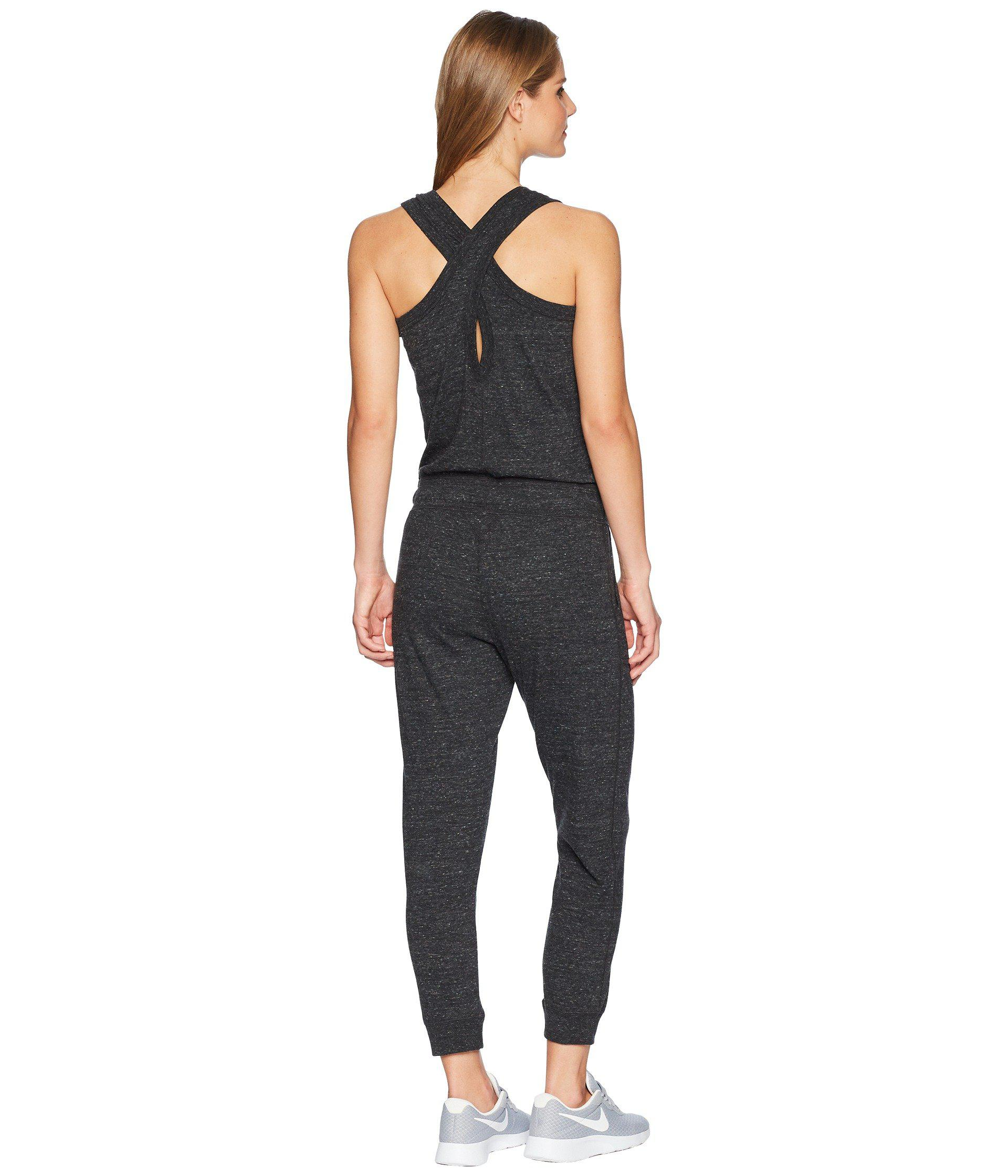 1f7ebdfdf80 Nike - Sportswear Gym Vintage Romper (black sail) Women s Jumpsuit   Rompers  One. View fullscreen