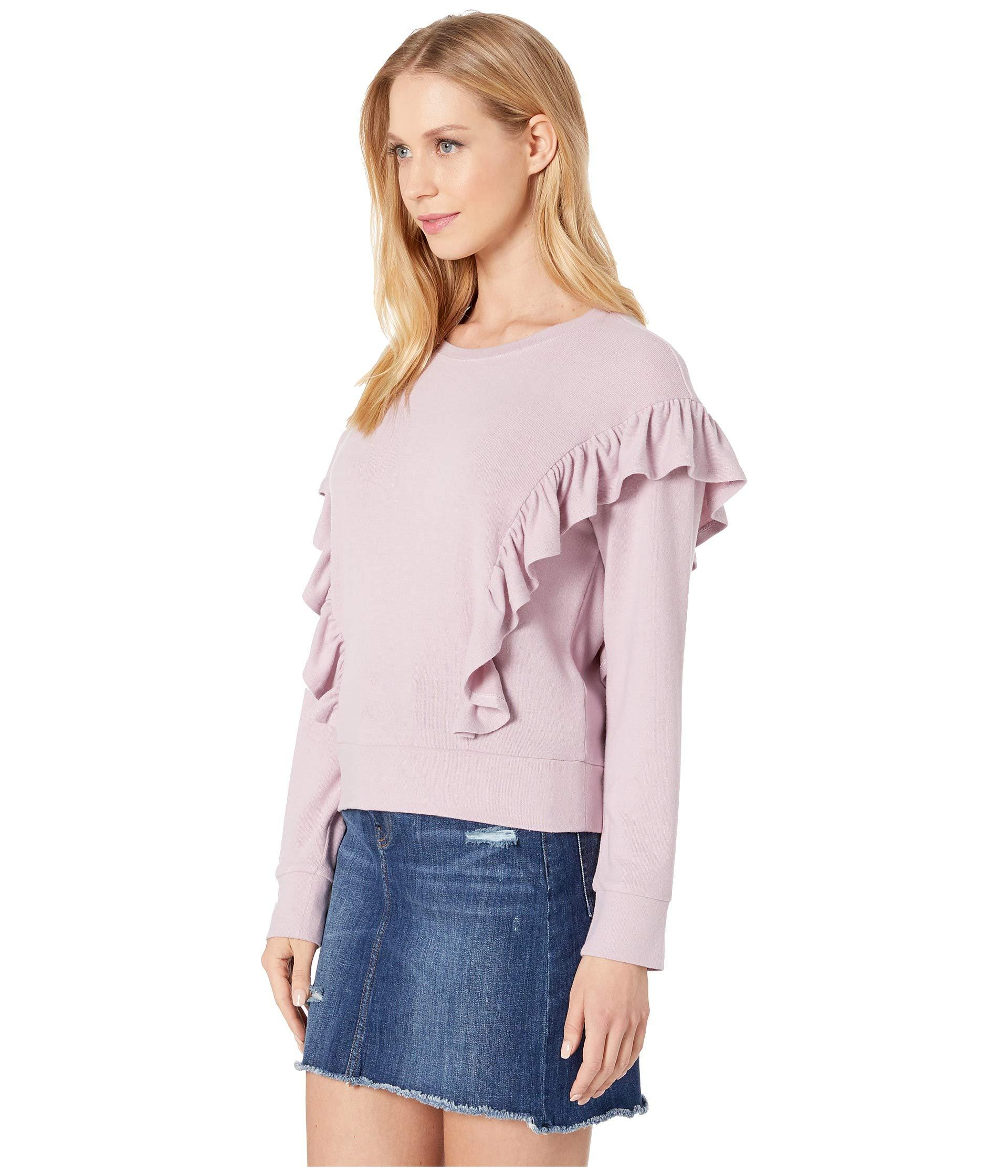 ef4b4127 Lyst - Cupcakes And Cashmere Primrose Ruffle Knit Top (dawn Pink) Women's  Clothing in Pink