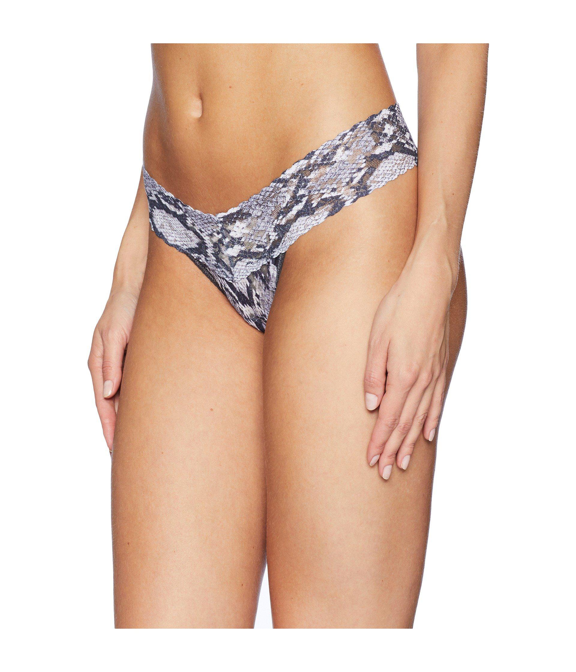 4ba79ea586 Lyst - Hanky Panky Grey Python Low Rise Thong (grey Multi) Women s Underwear  in Gray