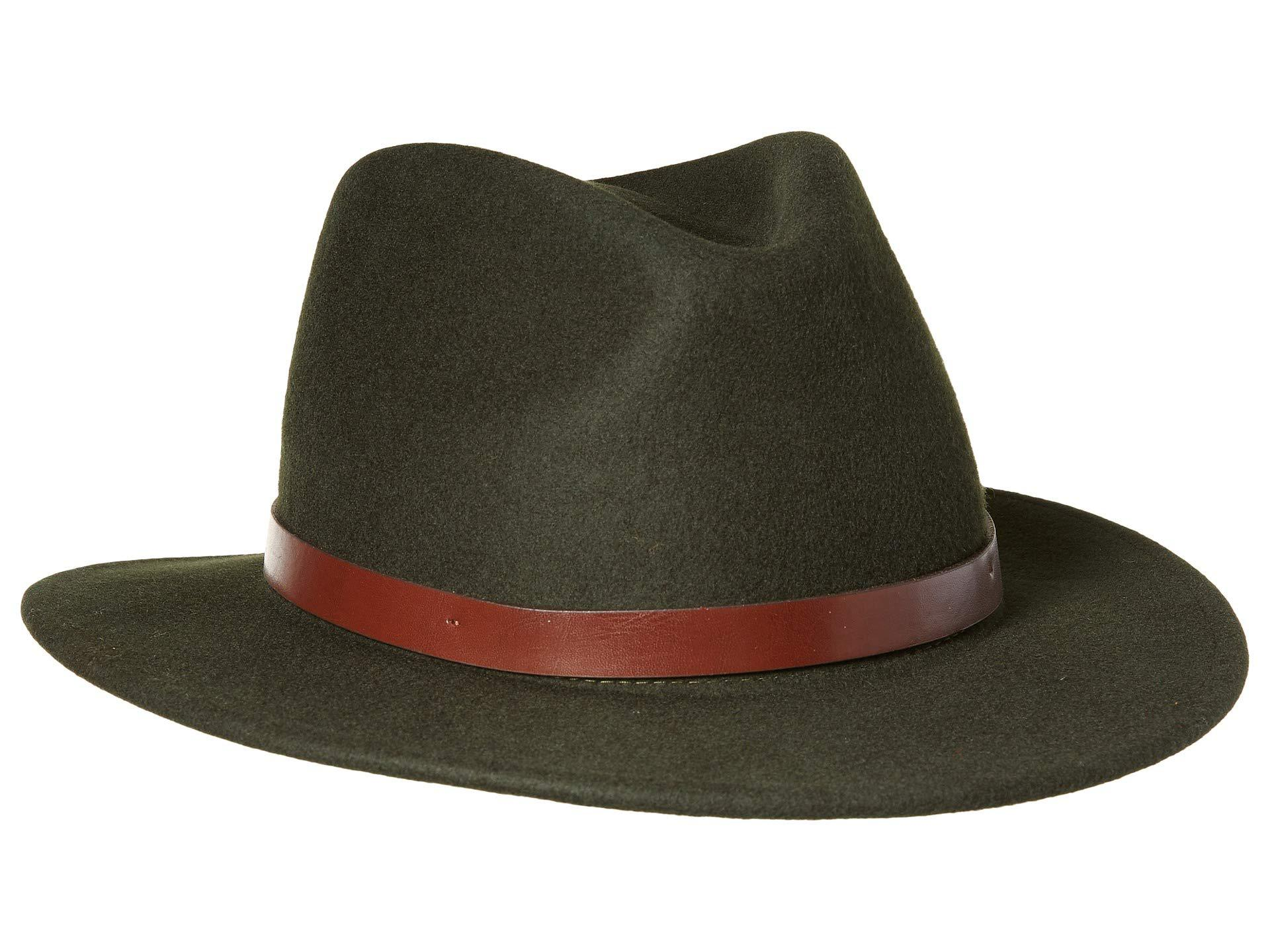 a31894d6908 Lyst - Brixton Messer Fedora (black) Fedora Hats in Black for Men