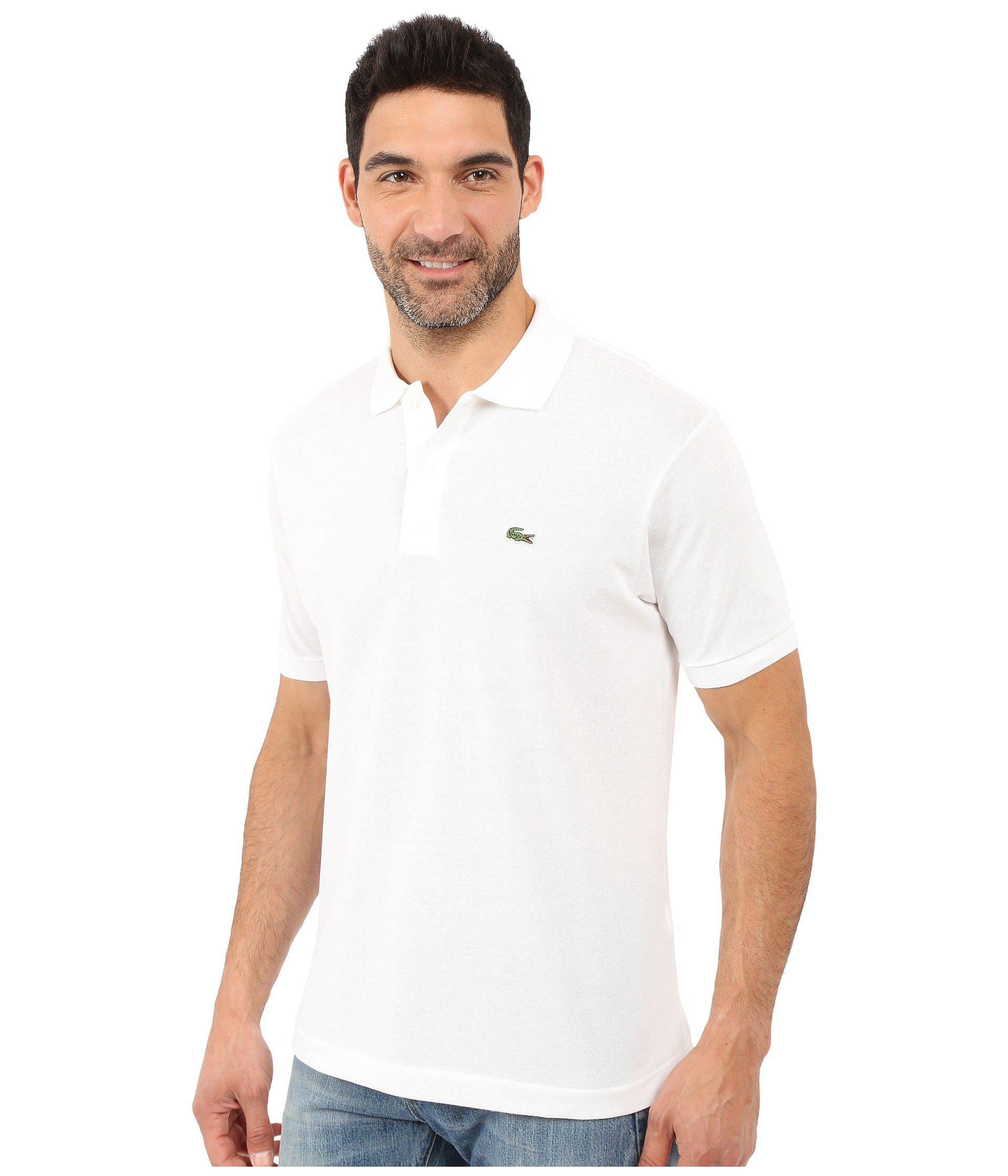 11f483c448a3 Lyst - Lacoste L1212 Classic Pique Polo Shirt (white) Men s Short Sleeve  Knit in White for Men