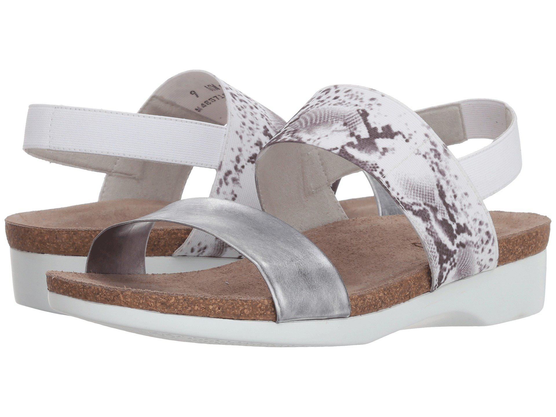 99a6c43e2 Lyst - Munro Pisces (white/black Fabric Combo) Women's Sandals