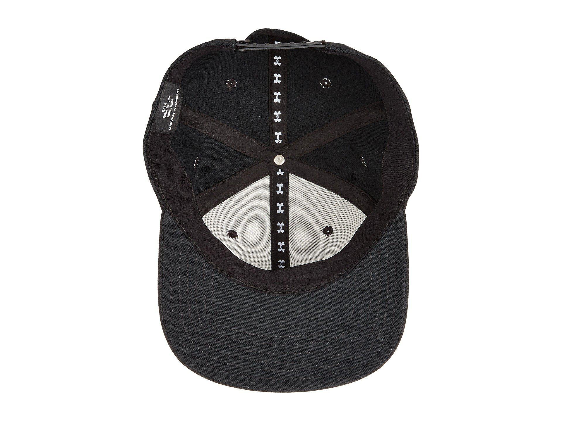 7b6366390fb Lyst - Under Armour Ua Huddle Snapback Cap in Black for Men