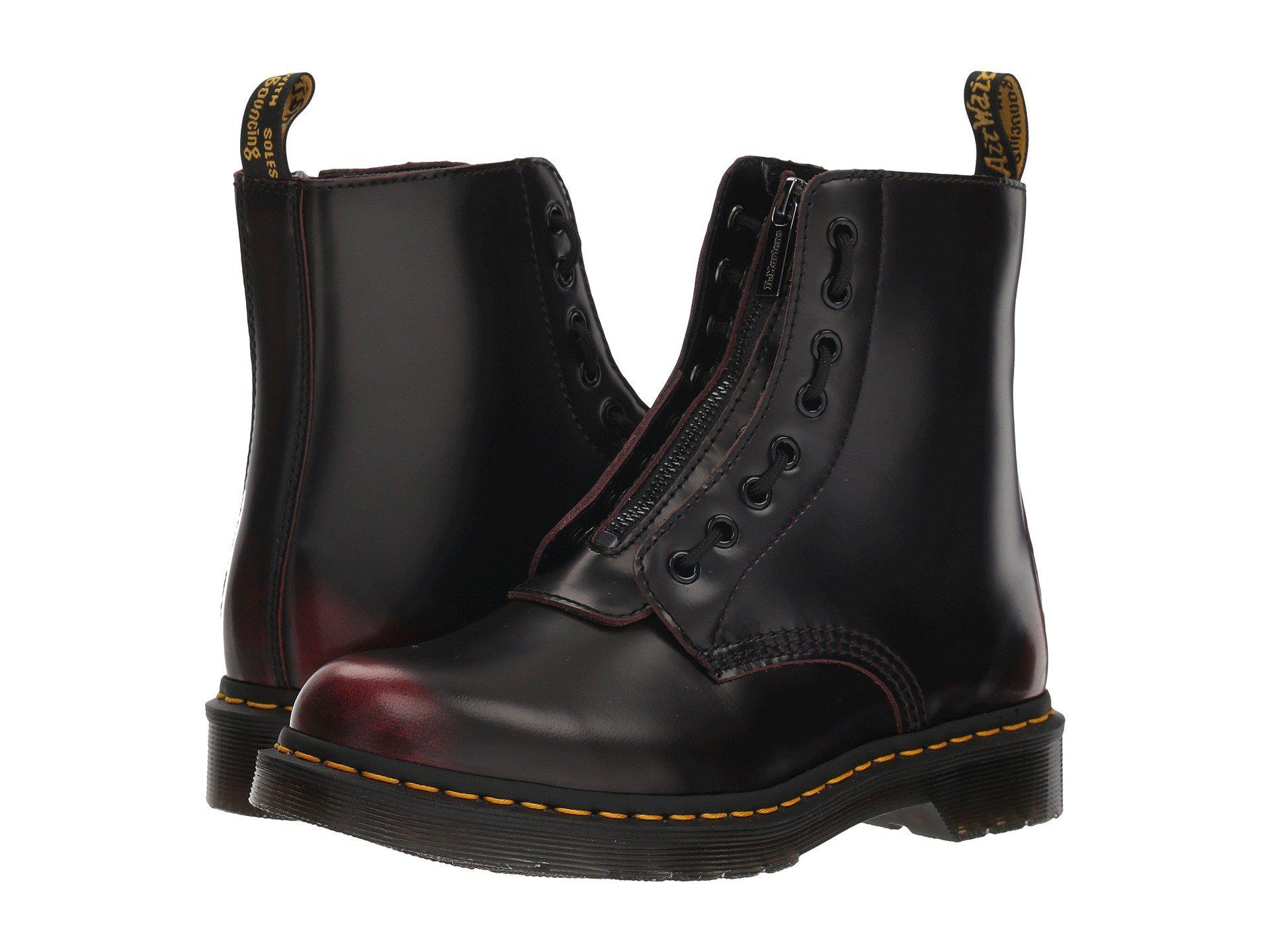 ff51749ddabd8 Dr. Martens. Black 1460 Pascal Front Zip (cherry Red Arcadia) Women s Boots
