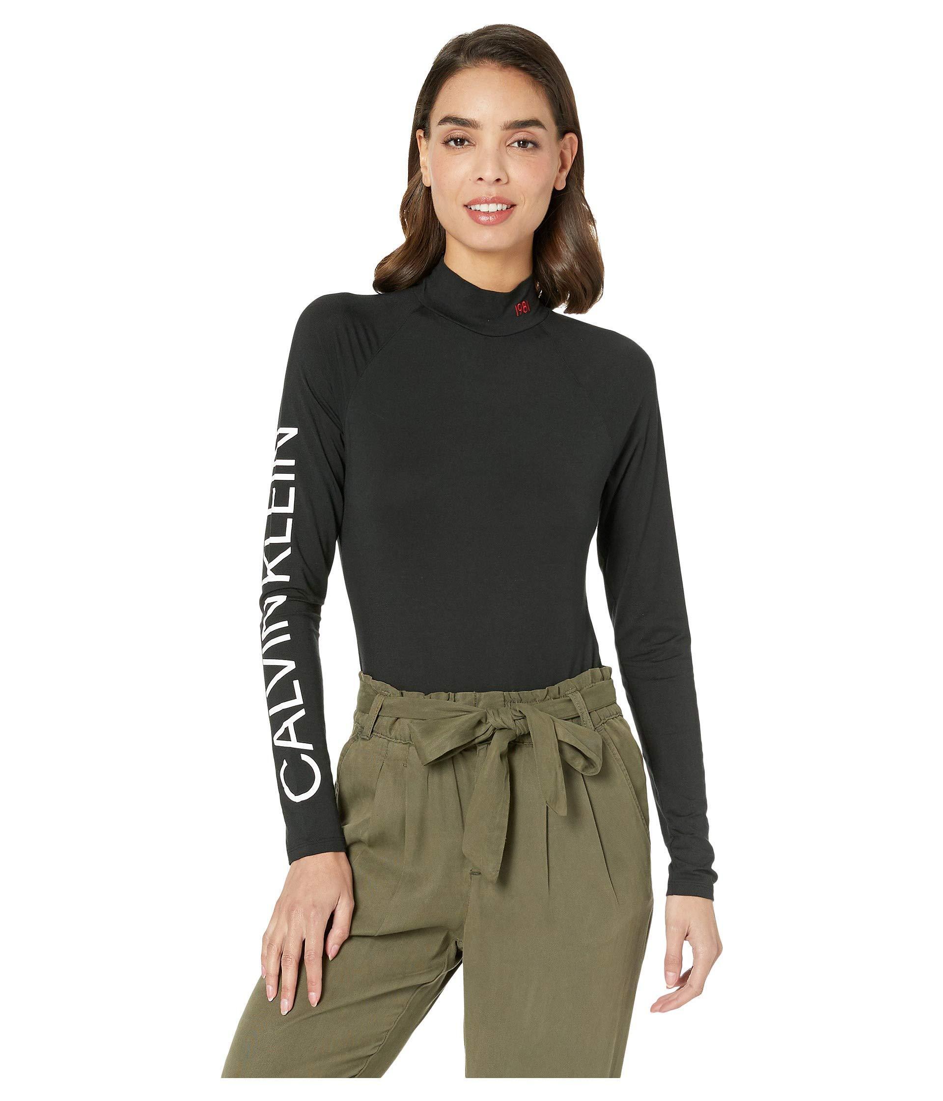 Calvin Klein. Statement Lounge Bodysuit (black) Women s Jumpsuit   Rompers  One Piece 04c5ec6dd