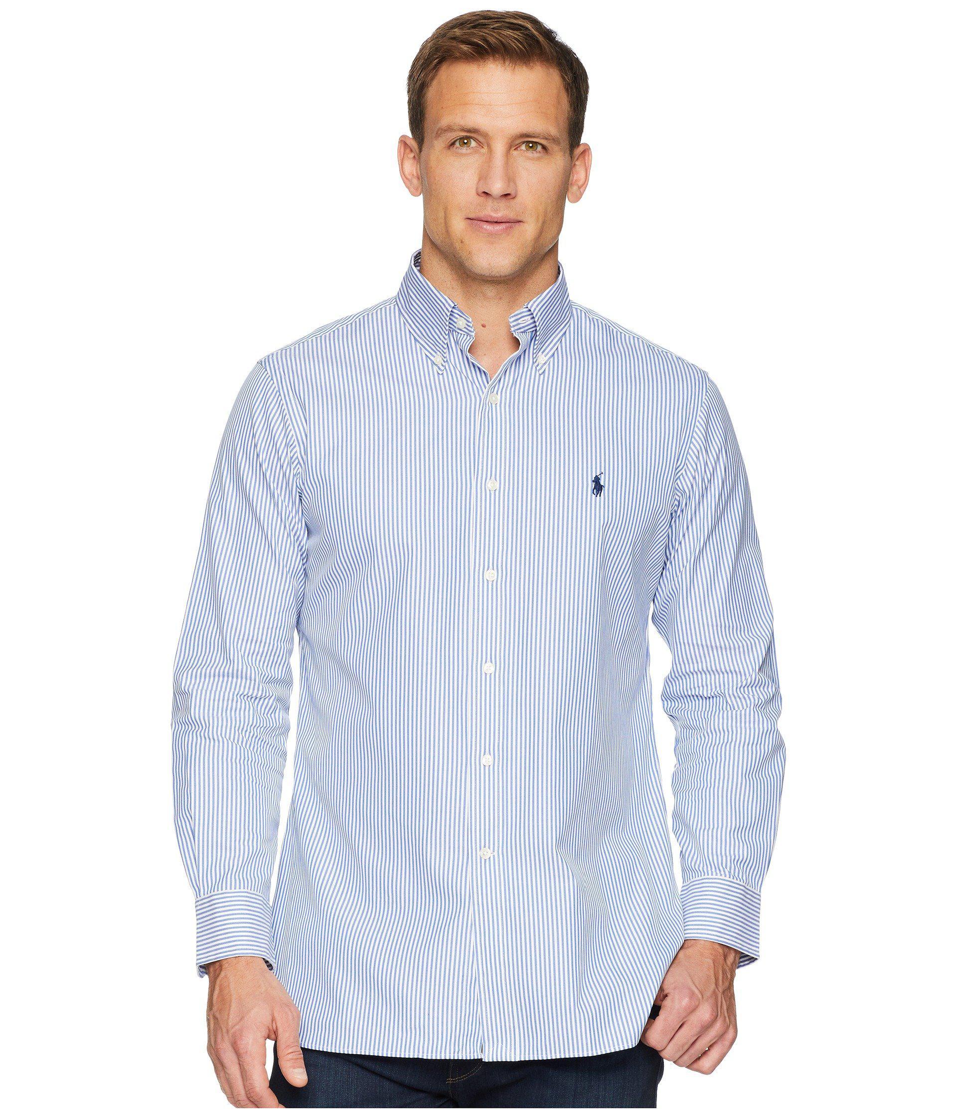 Lyst Polo Ralph Lauren Standard Fit Poplin Dress Shirt Bluewhite
