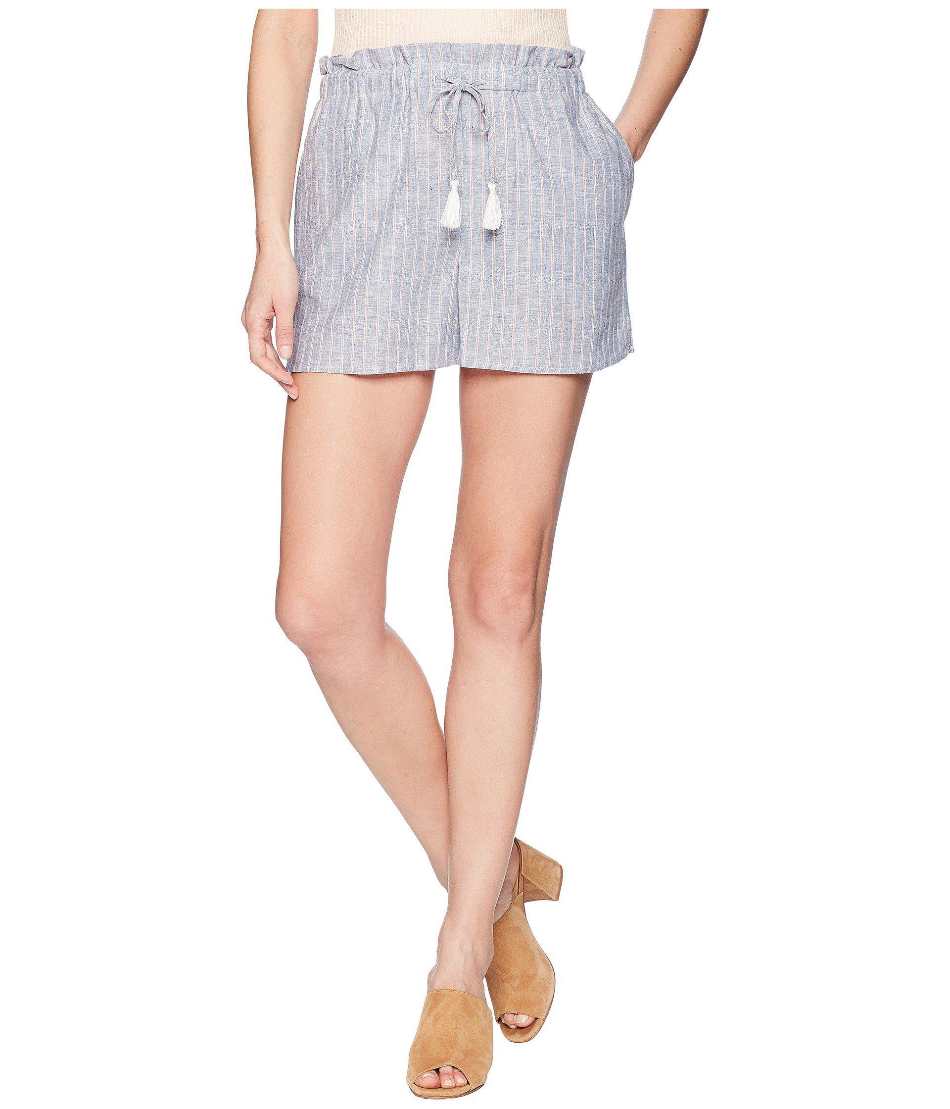 1. STATE Paperbag Waist Linen Stripe Short jKf8yTs