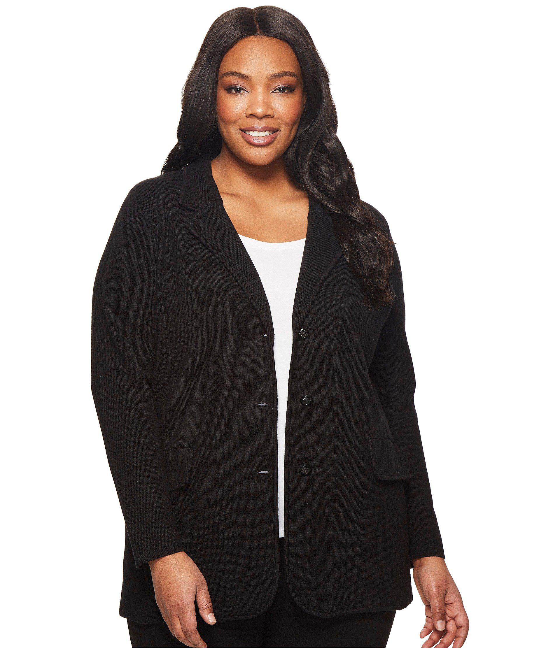Lauren by Ralph Lauren. Plus Size Knit Sweater Blazer (black) Women\u0027s Jacket