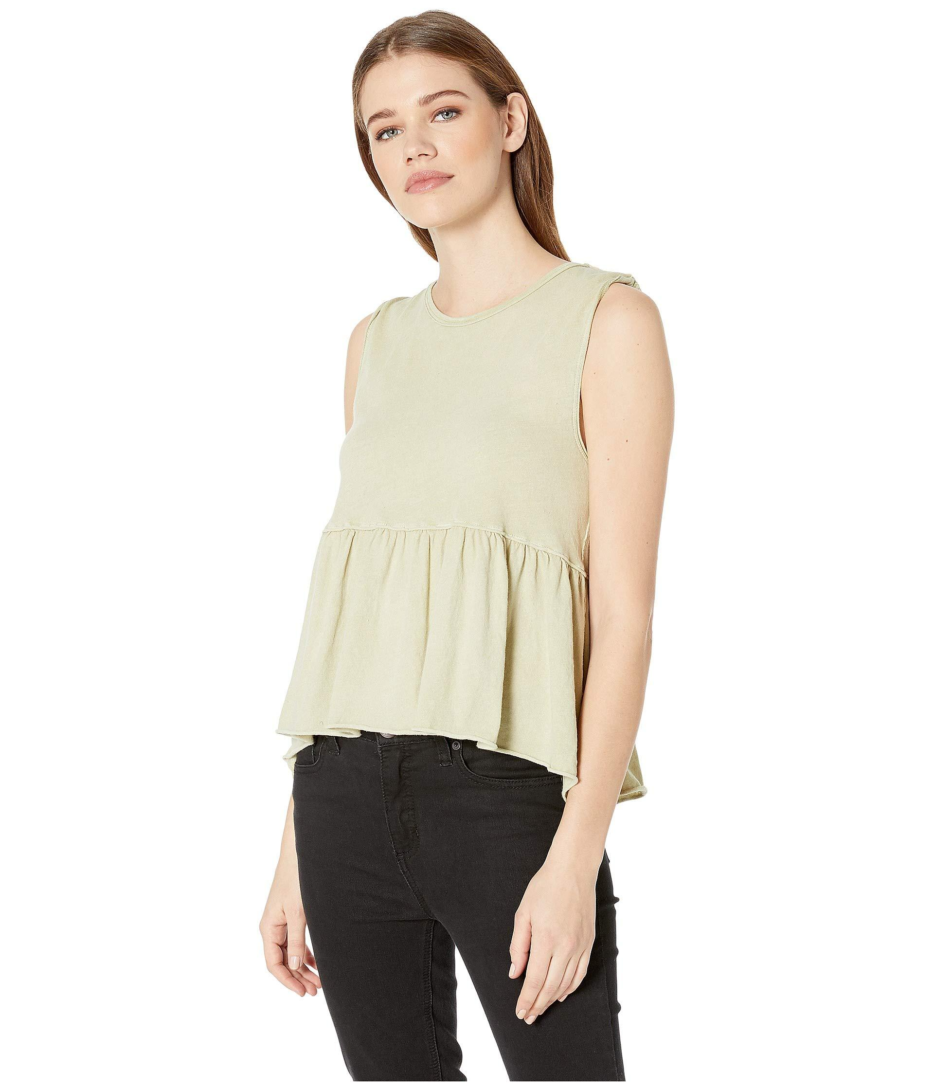 b5178684ceb6e Lyst - Free People Anytime Tank Top (ivory) Women s Sleeveless in Green