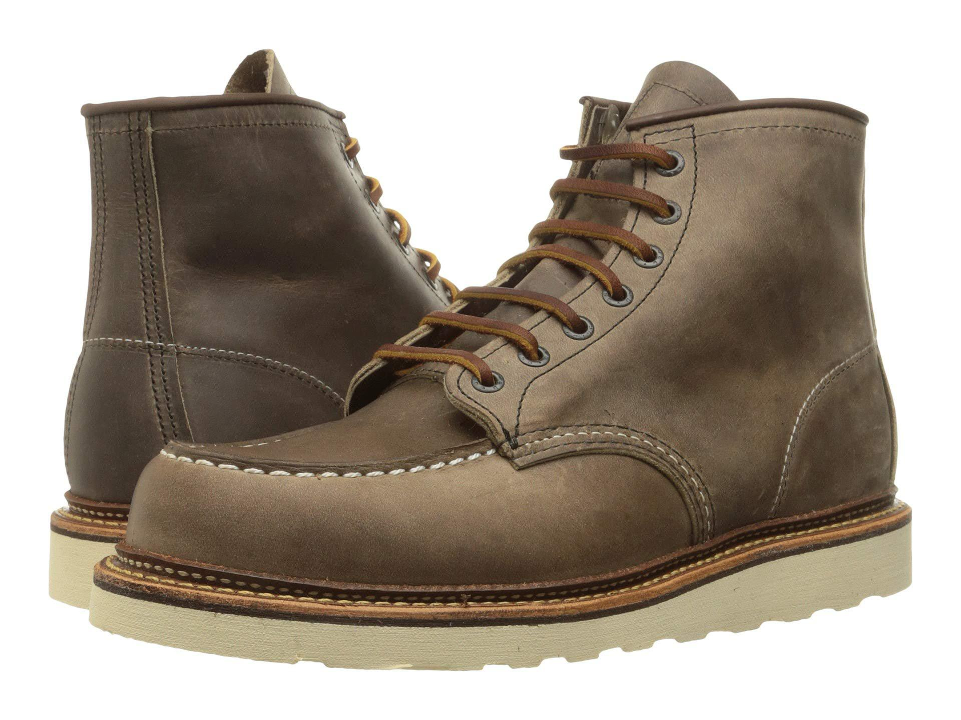 Lyst Red Wing 6 Moc Toe Oro Legacy Men S Lace Up Boots In Brown