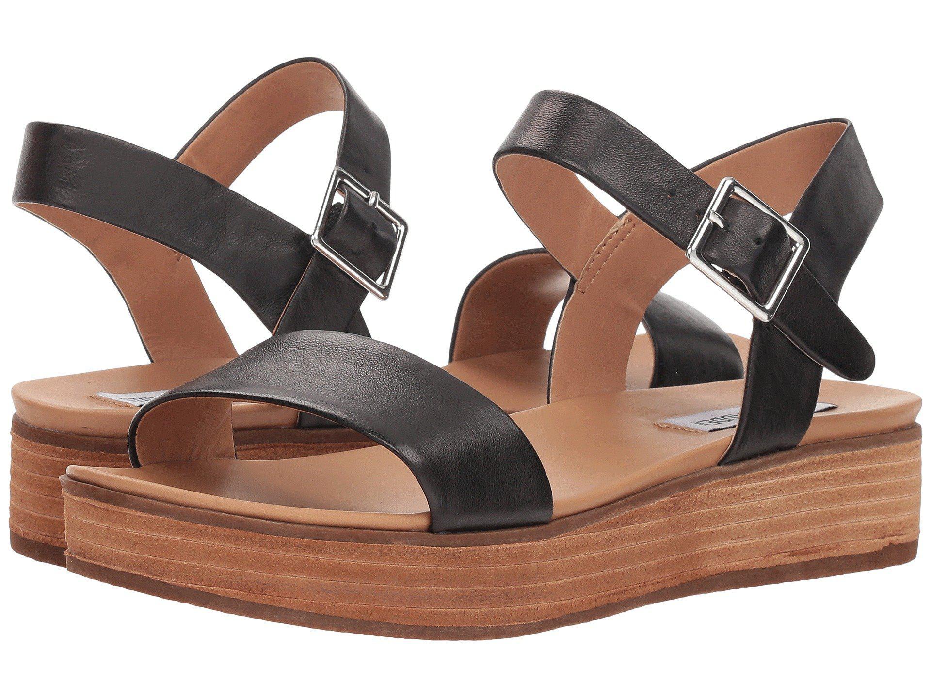 a98d57e489 Steve Madden Aida (black Leather) Women's Shoes - Lyst