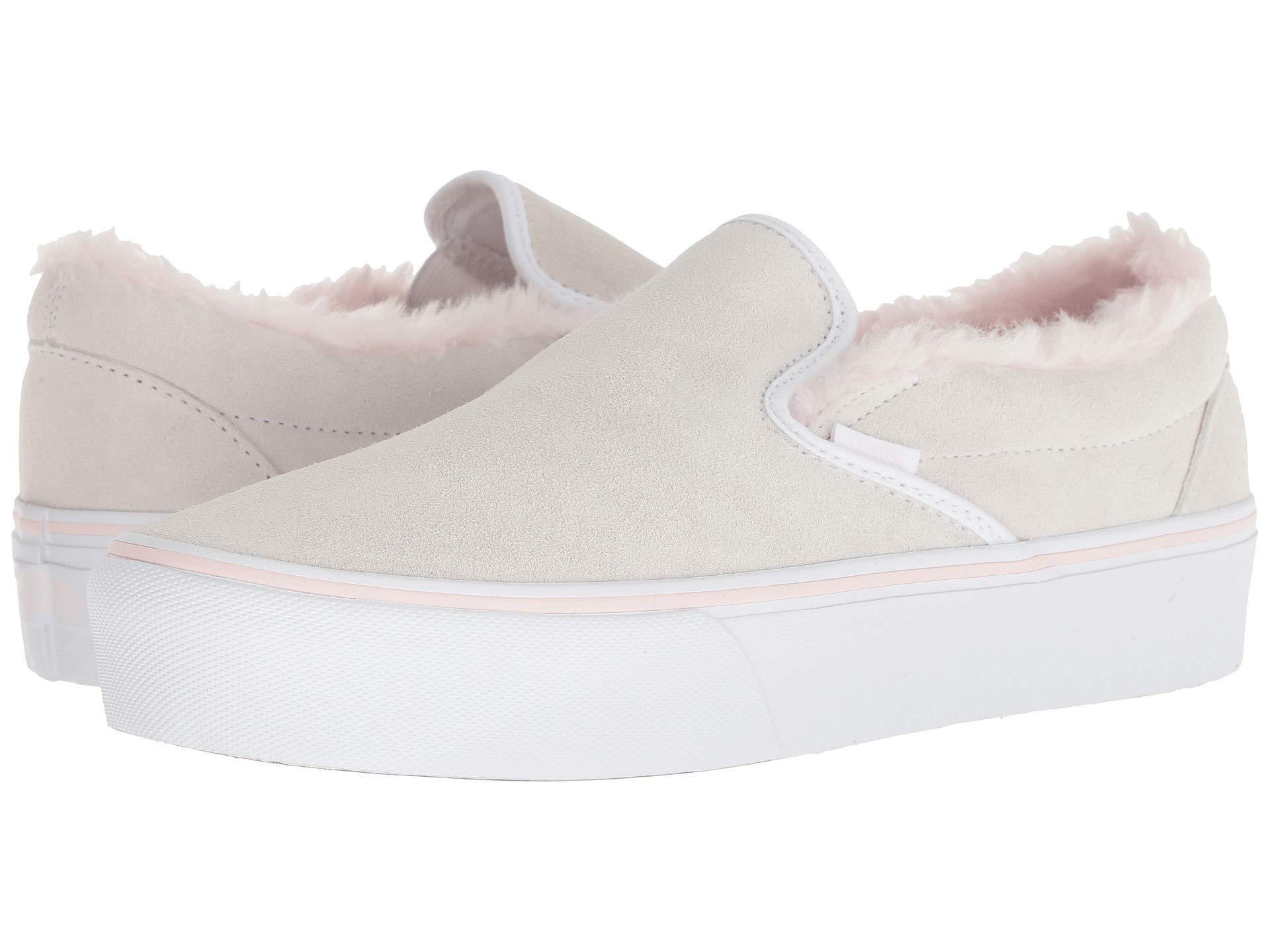 e1813e9160166e Lyst - Vans Women Classic Slip-on Platform Suede Sneakers