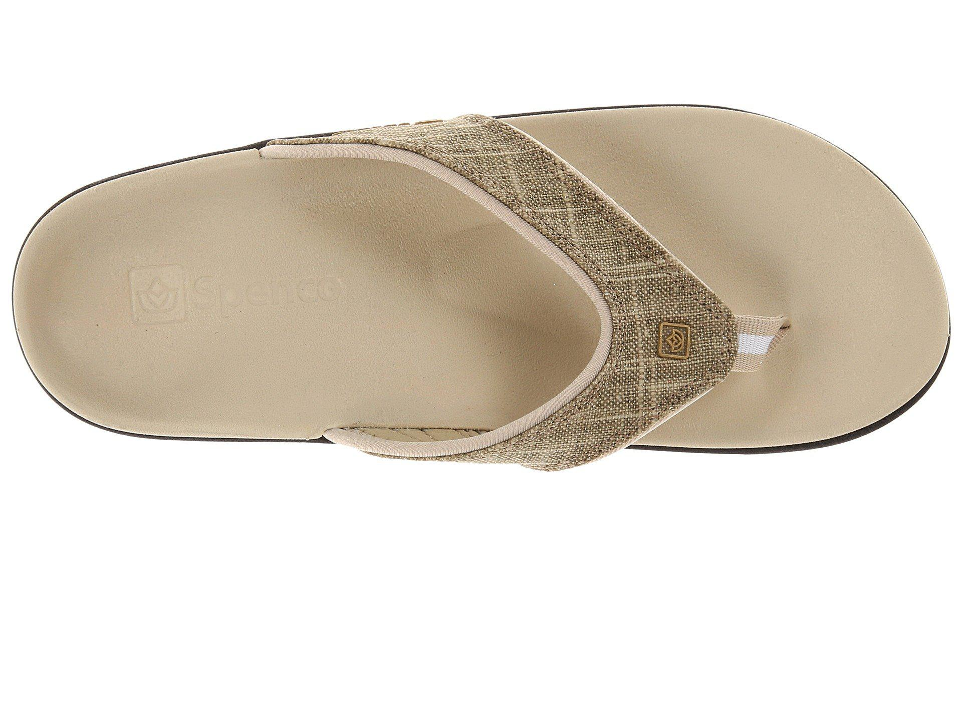 6b434c292 Lyst - Spenco Yumi Gold Canvas (khaki Gold) Women s Toe Open Shoes ...
