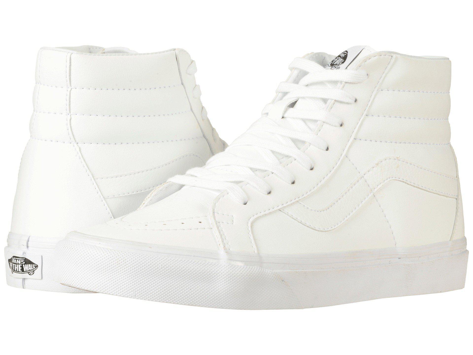 97bef0f17b21 Lyst - Vans Sk8-hi Reissue ((leather fleece) Black true White 2 ...