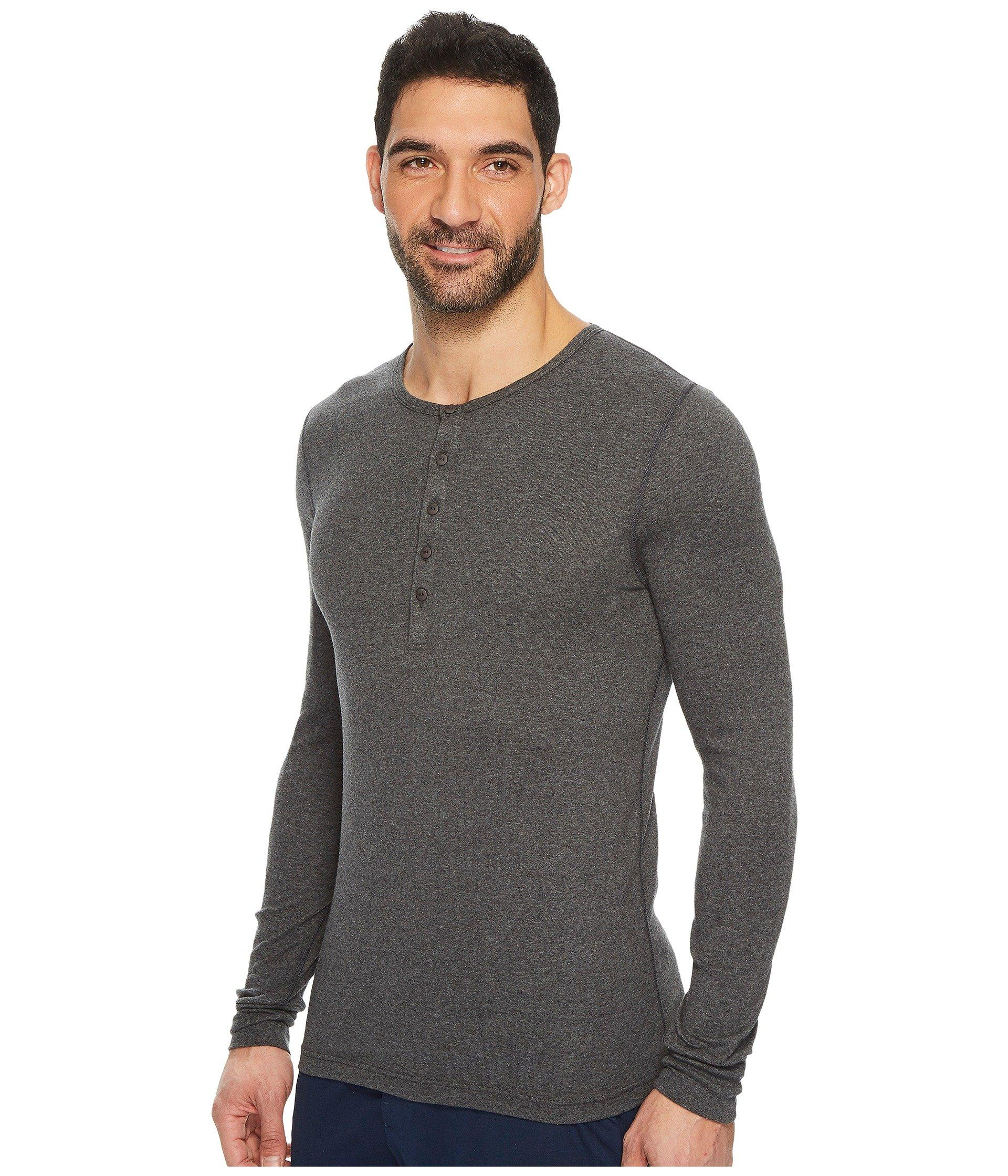 8e42ce92 Lyst - 2xist 2(x)ist Essentials L/s Henley (black) Men's T Shirt in Gray  for Men