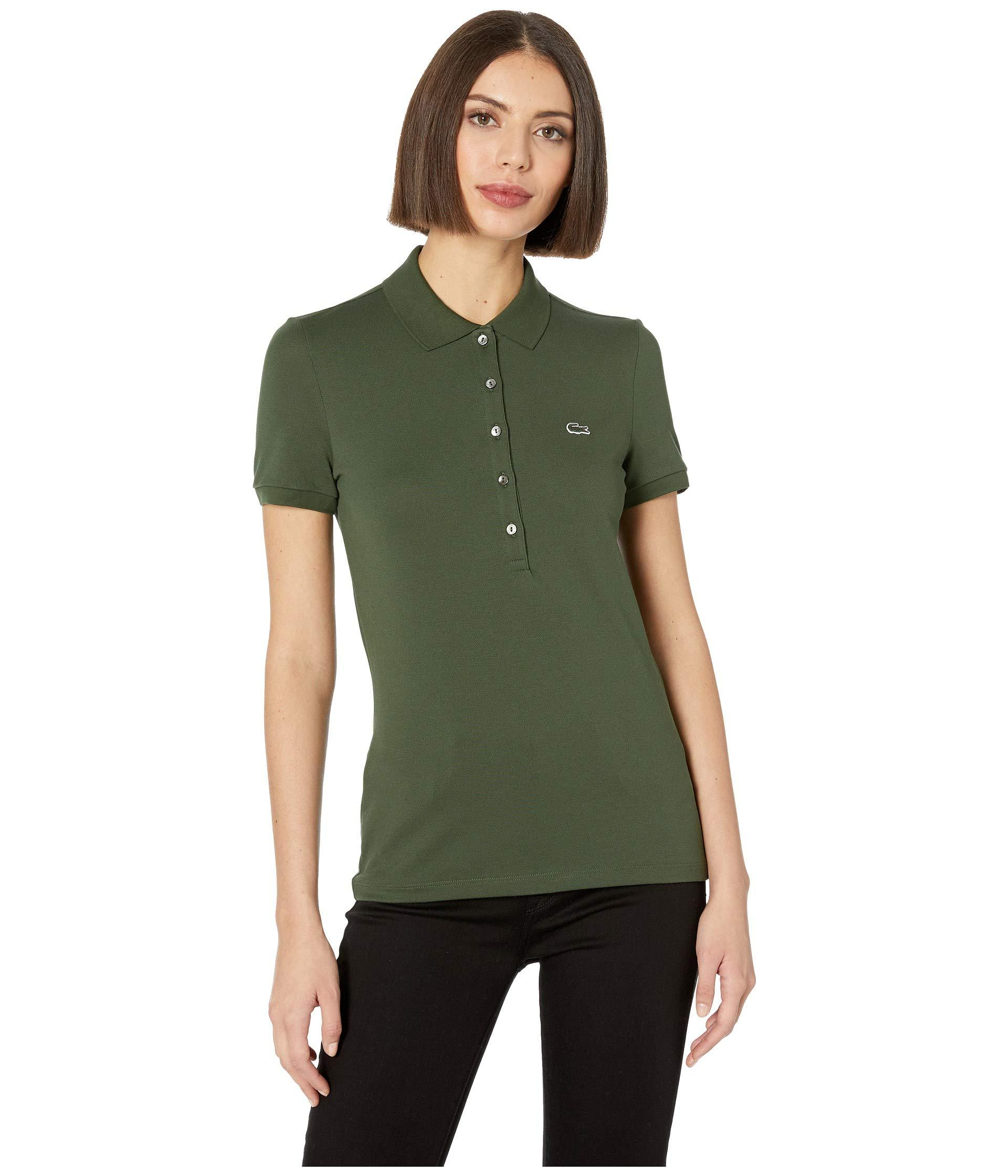 b9f9244be Lyst - Lacoste Classic Short Sleeve Slim Fit Stretch Pique Polo in Green