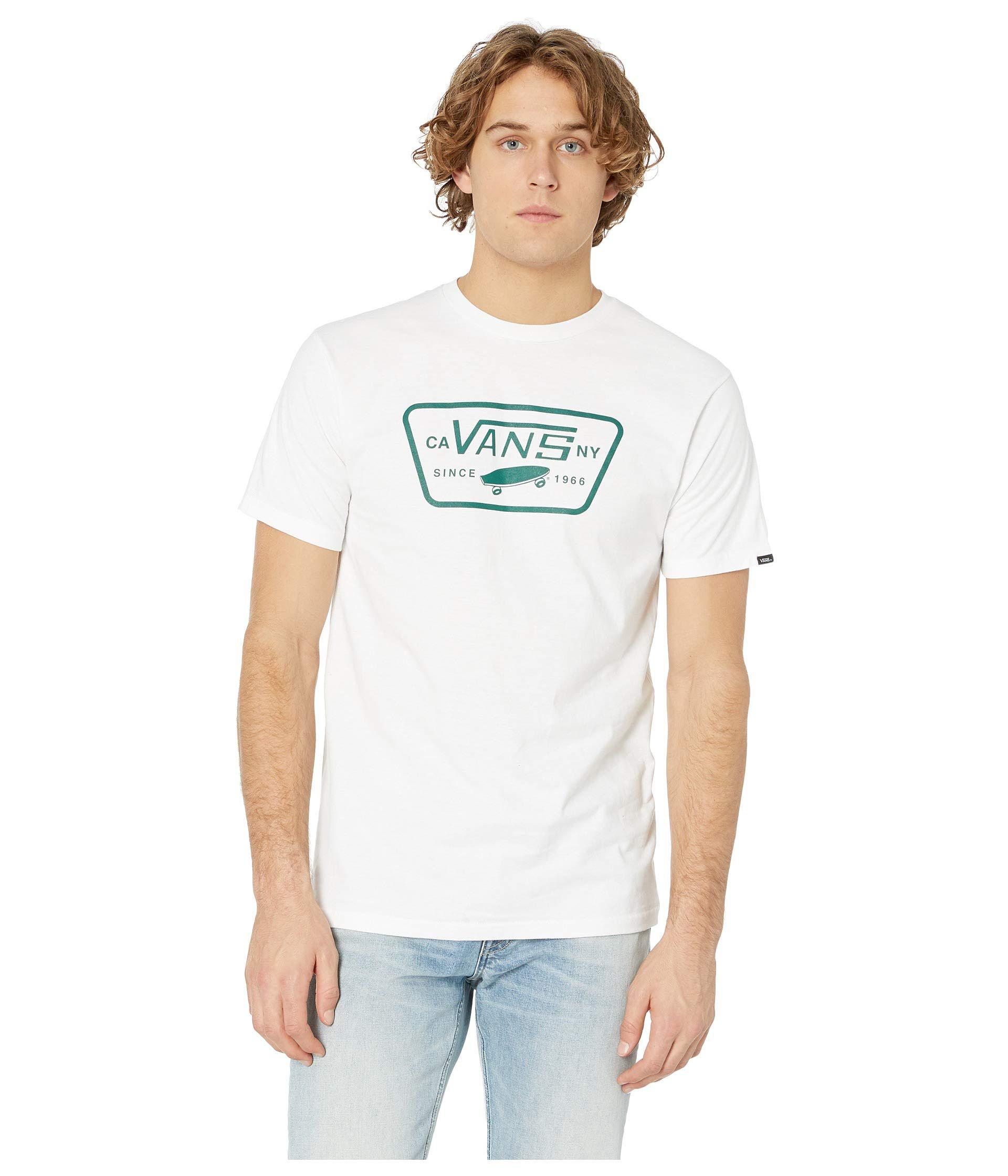 1ce1b5f12fff21 Lyst - Vans Full Patch Tee (white evergreen) Men s T Shirt in White ...