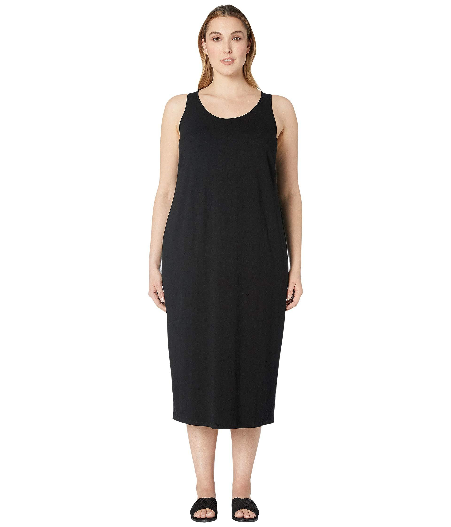 233f33ebd3 Lyst - Eileen Fisher Plus Size Viscose Jersey Scoop Neck Dress ...