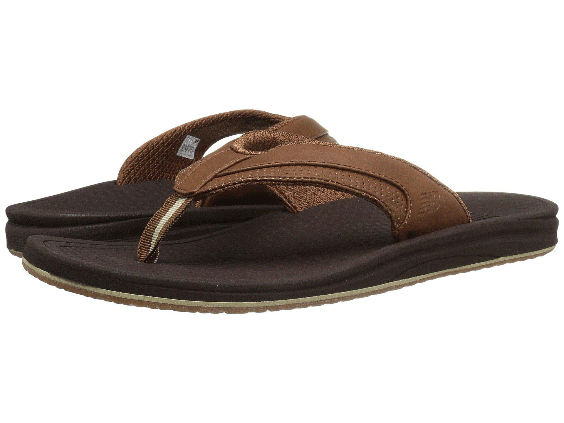 927bf3544ad45 New Balance. Brown Purealign Recharge Thong (black/grey) Men's Sandals