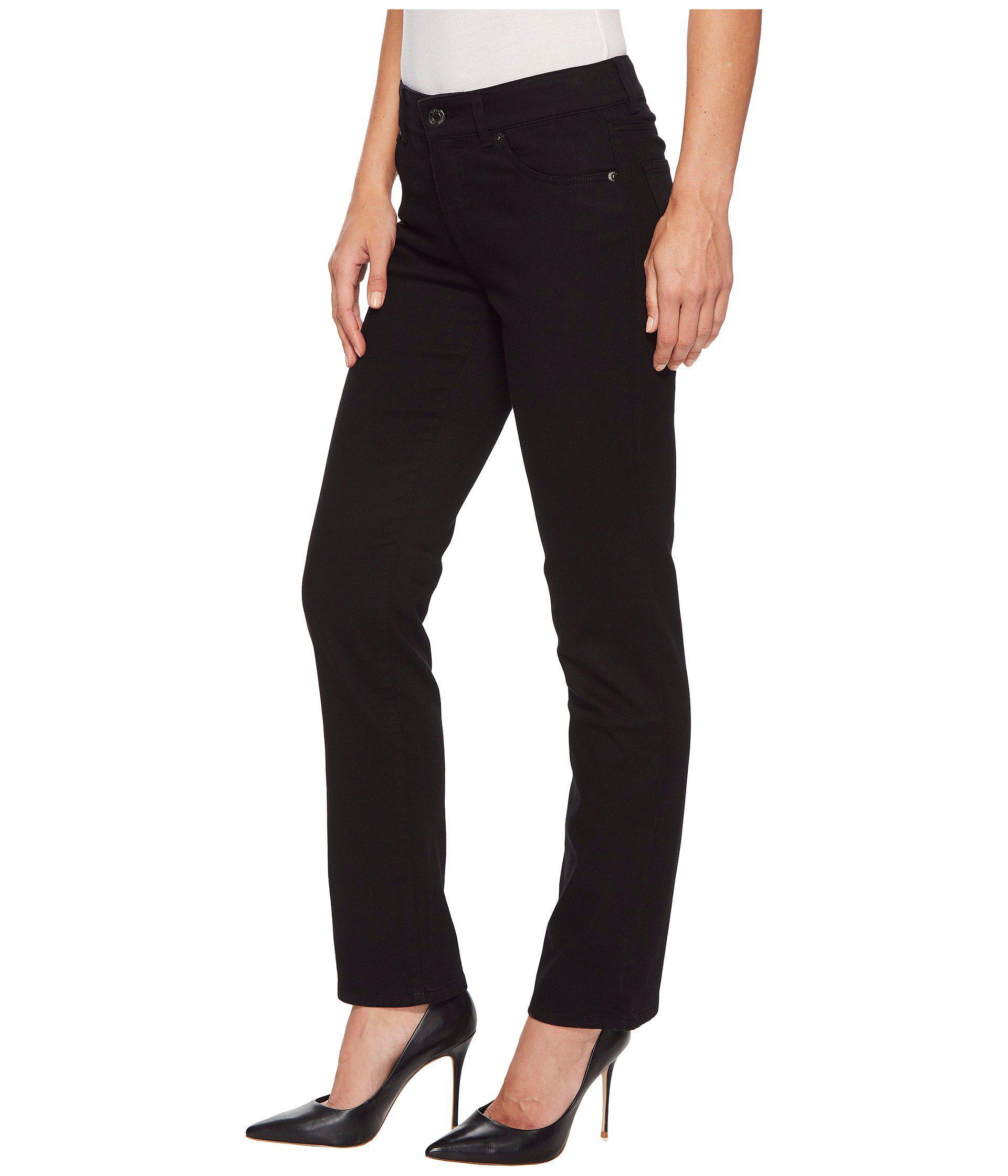 32b0ec52ea984 Lyst - Lauren By Ralph Lauren Premier Straight Jeans (black) Women s Jeans  in Black