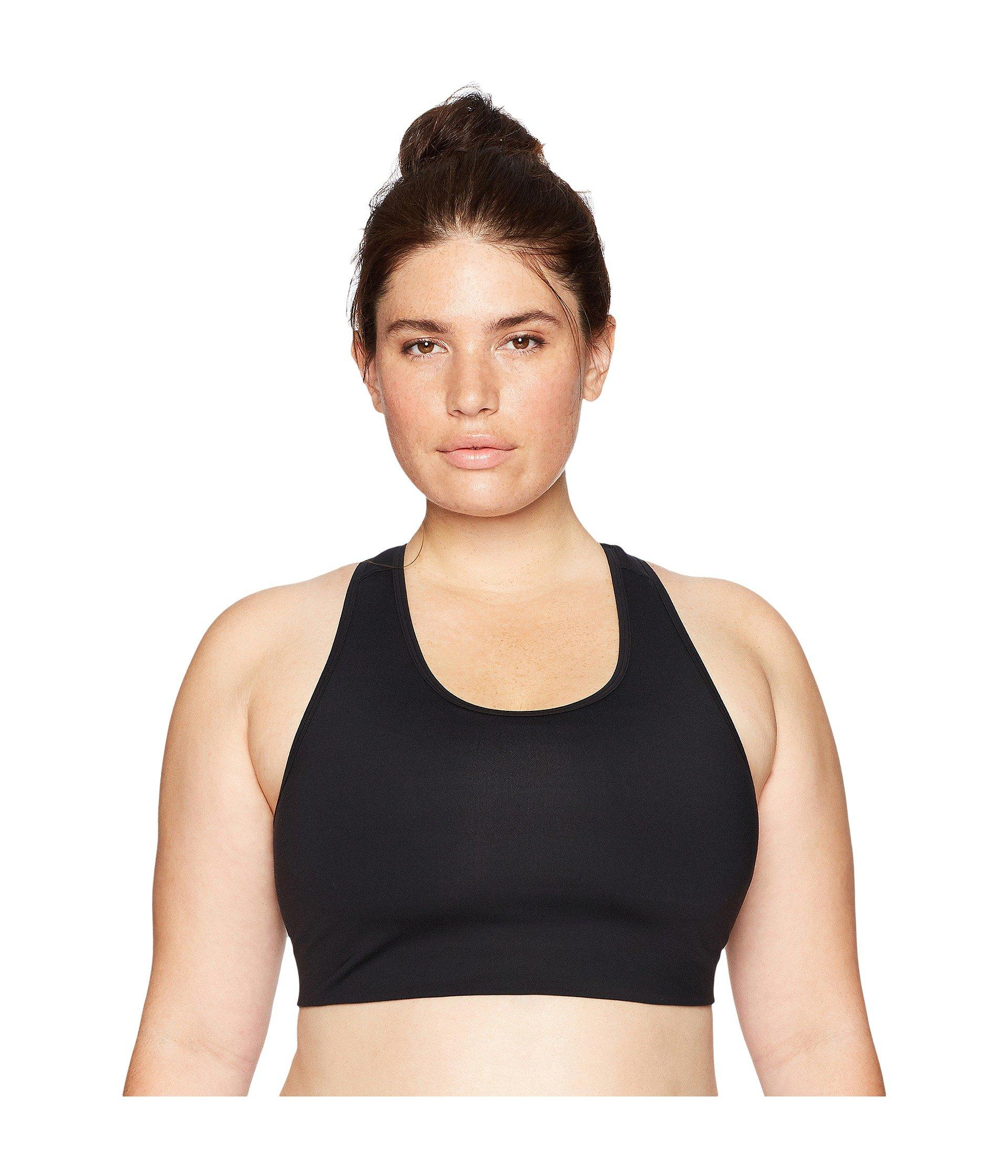 07f59cb9517d6 Core 10 Icon Series - The Track Star Plus Size Sports Bra (black ...