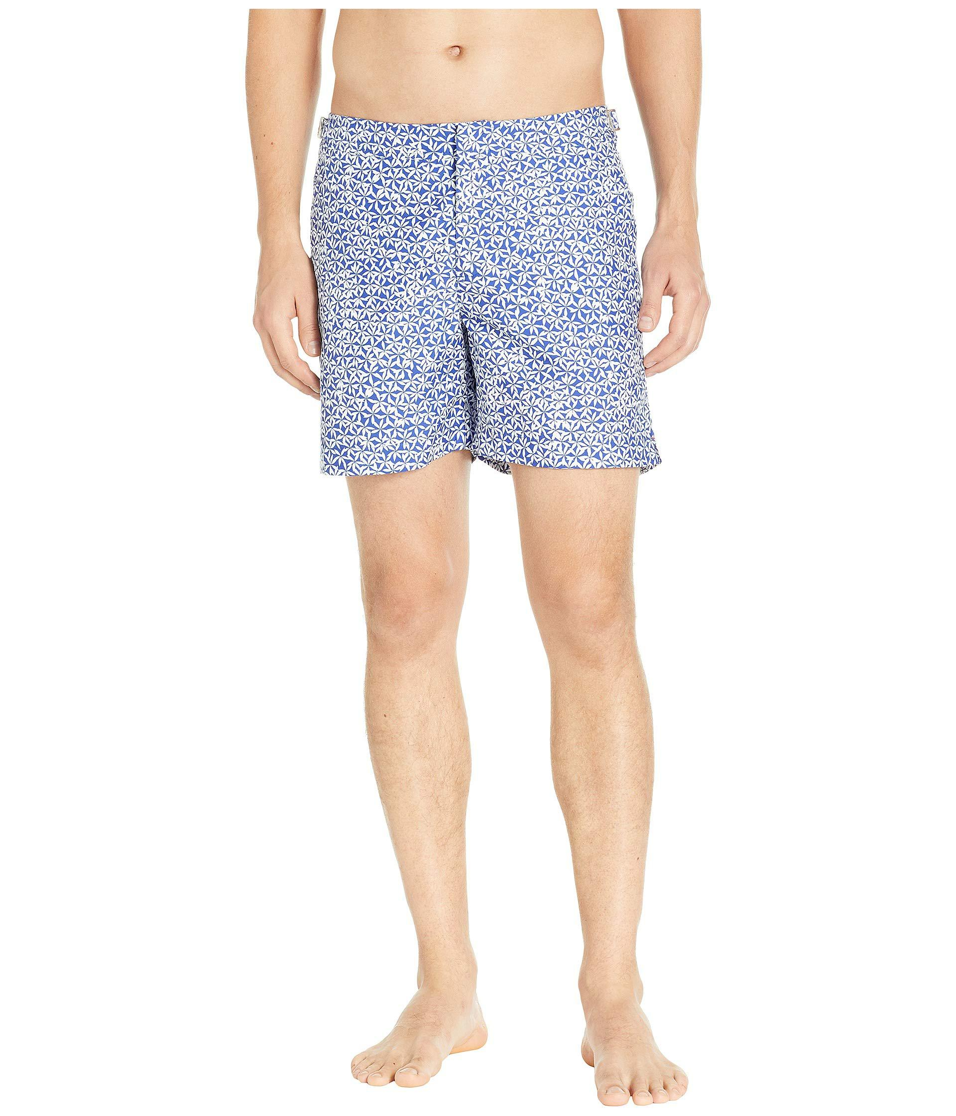 a82f66e066 Orlebar Brown. Blue Bulldog Foglia Swim Trunks (mazanine 2) Men's Swimwear