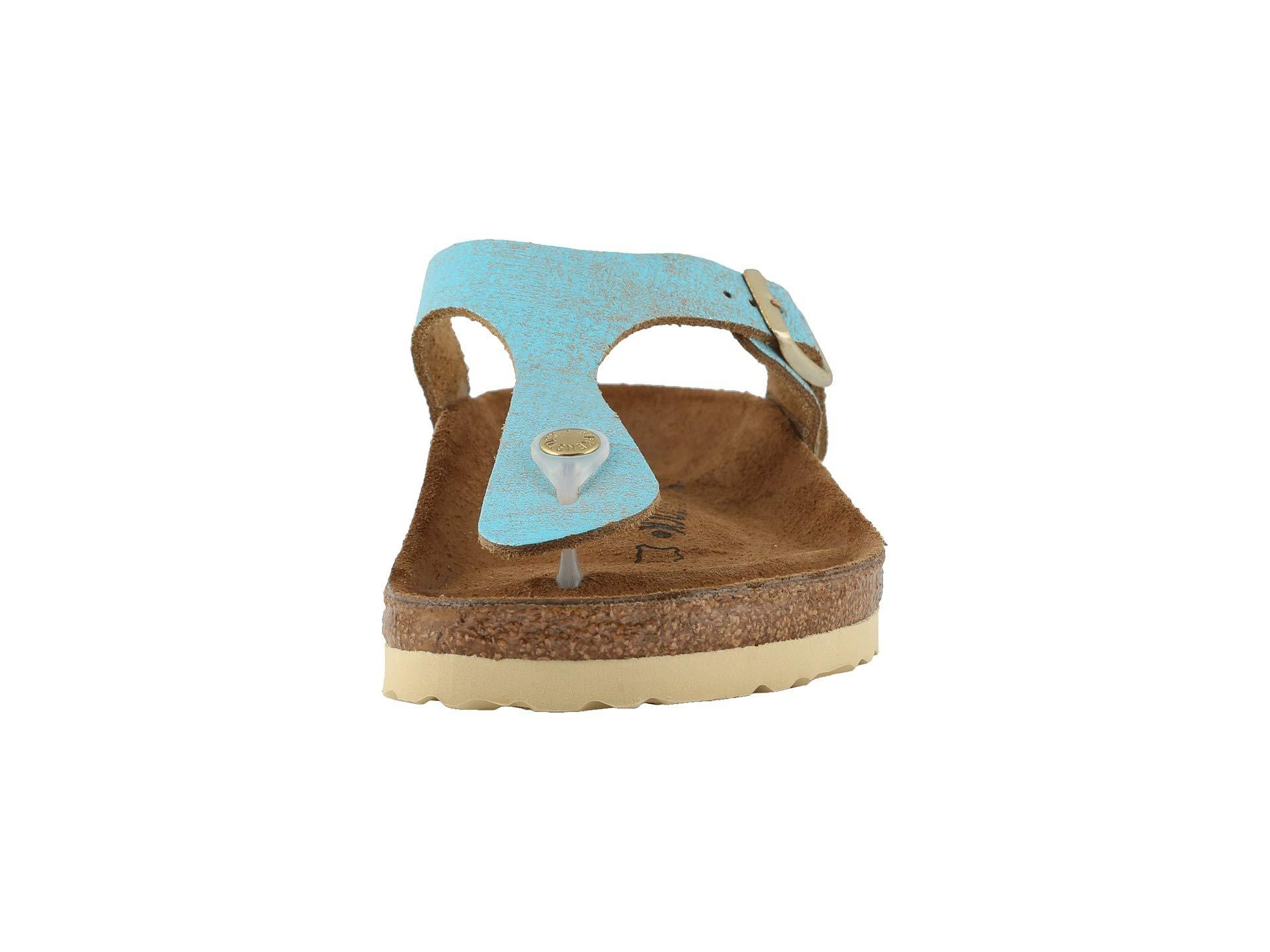 a01a9238cae Birkenstock - Gizeh - Leather (washed Metallic Aqua) Women s Sandals -  Lyst. View fullscreen
