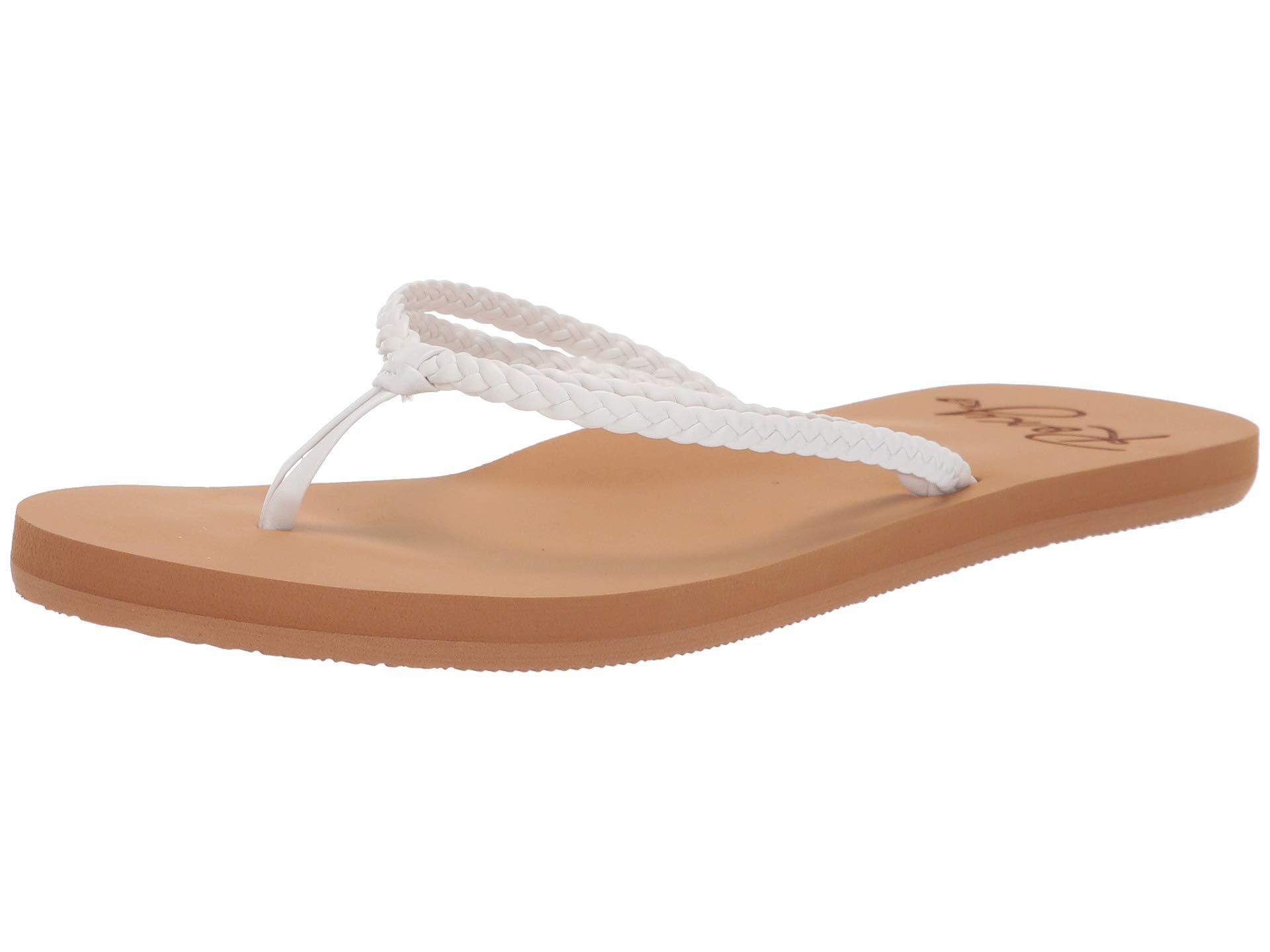 34e38794fcd0 Roxy - White Costas (cream) Women s Sandals - Lyst. View fullscreen