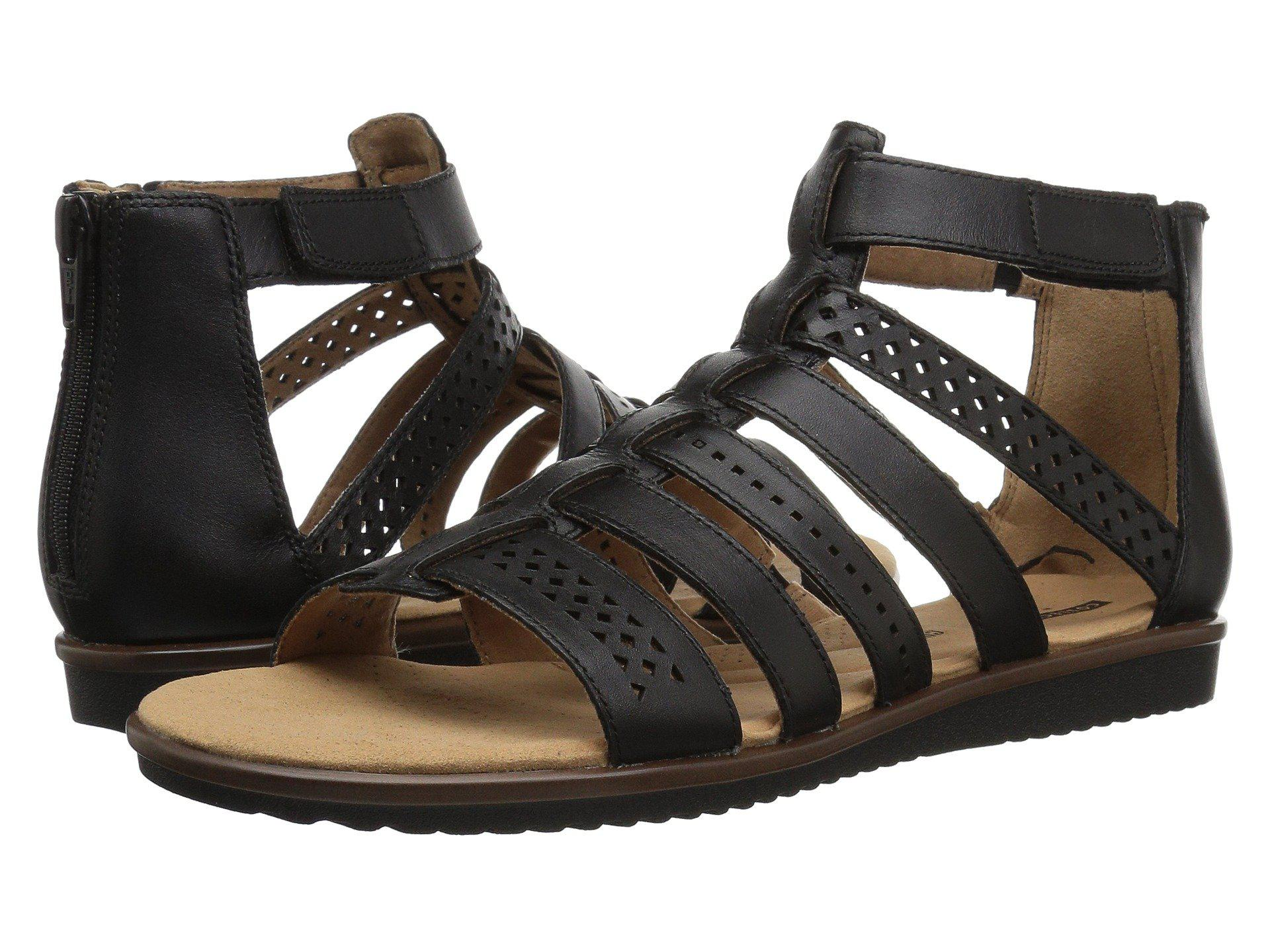 49e72449872b Lyst - Clarks Kele Lotus Gladiator Sandal in Black - Save 60%