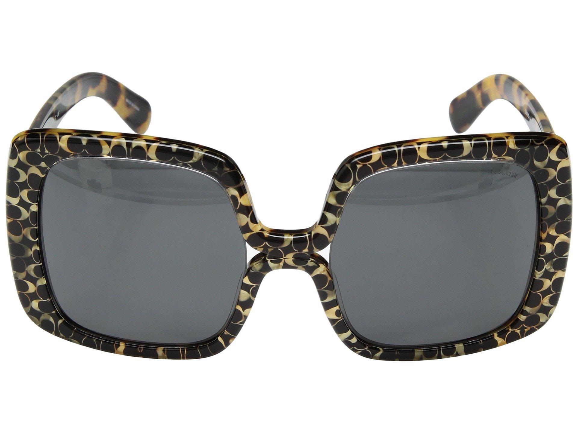 77f97e8593aa7 COACH - Multicolor 0hc8245 56mm (spotty Tortoise Signature C dark Grey)  Fashion Sunglasses. View fullscreen