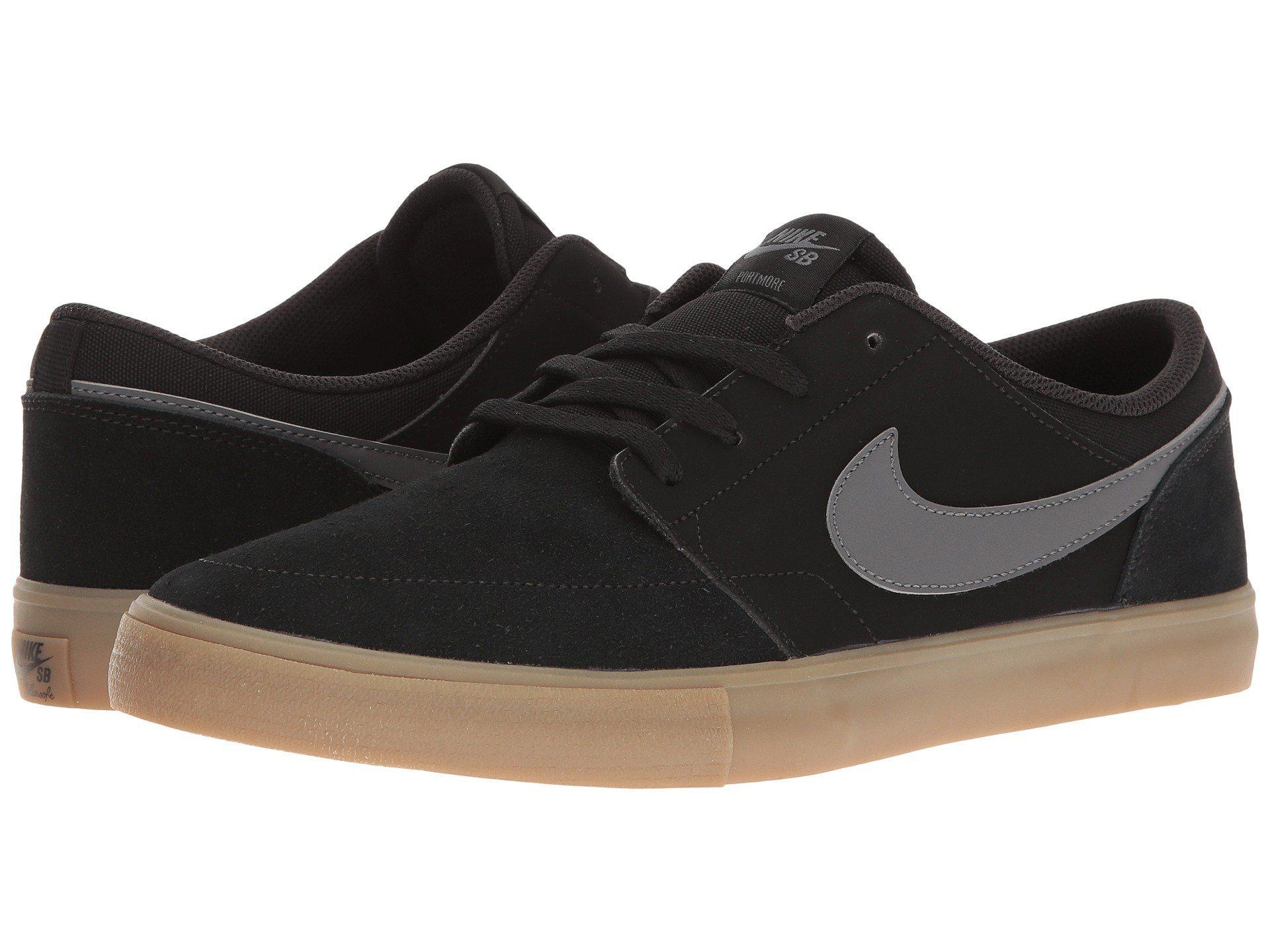 8ca17f7df17 Nike. Portmore Ii Solar - Suede (gunsmoke black white white) Men s Skate  Shoes